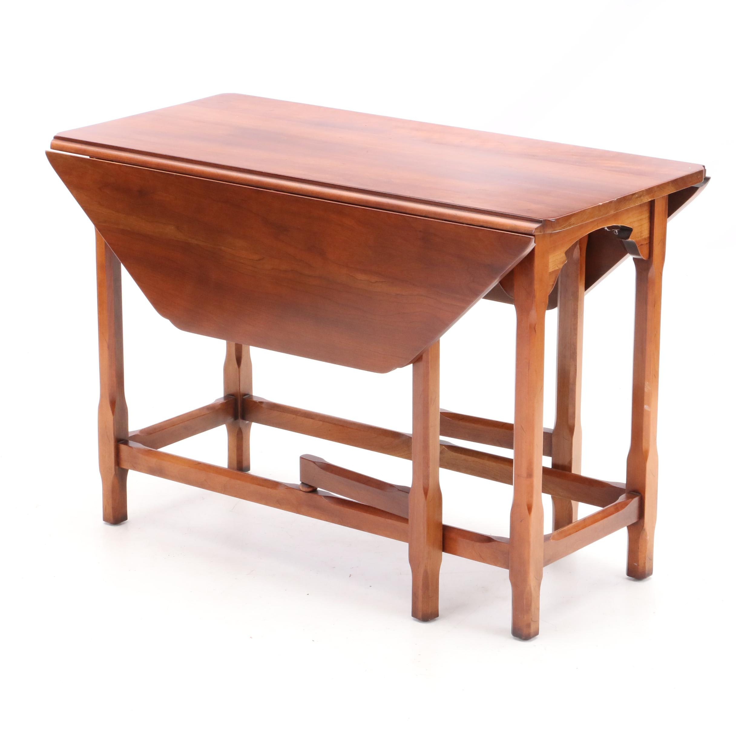 Statten Furniture Cherry Drop Leaf Coffee Table with Gate Legs