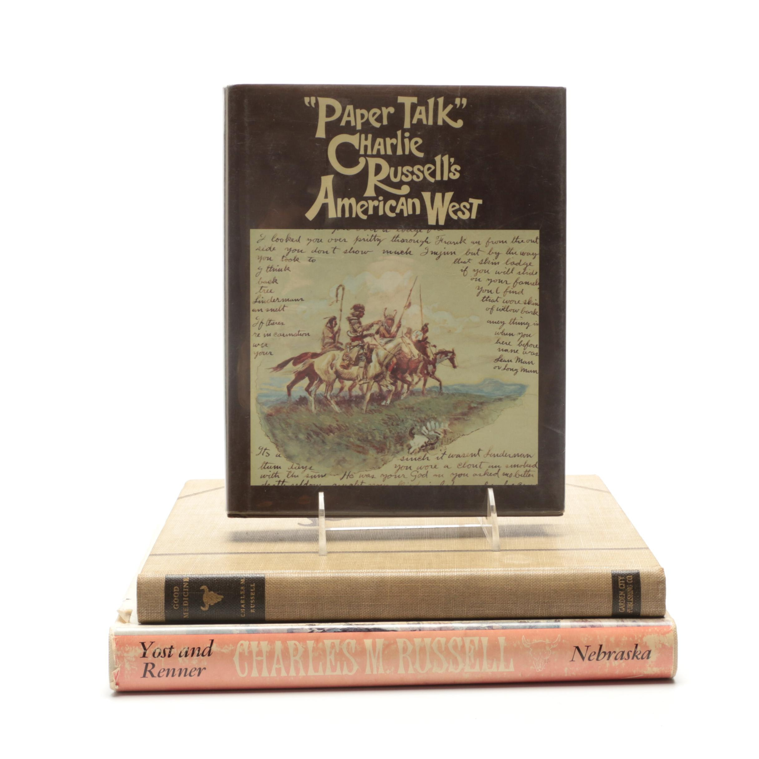 Group of Charlie Russell Western Art Books