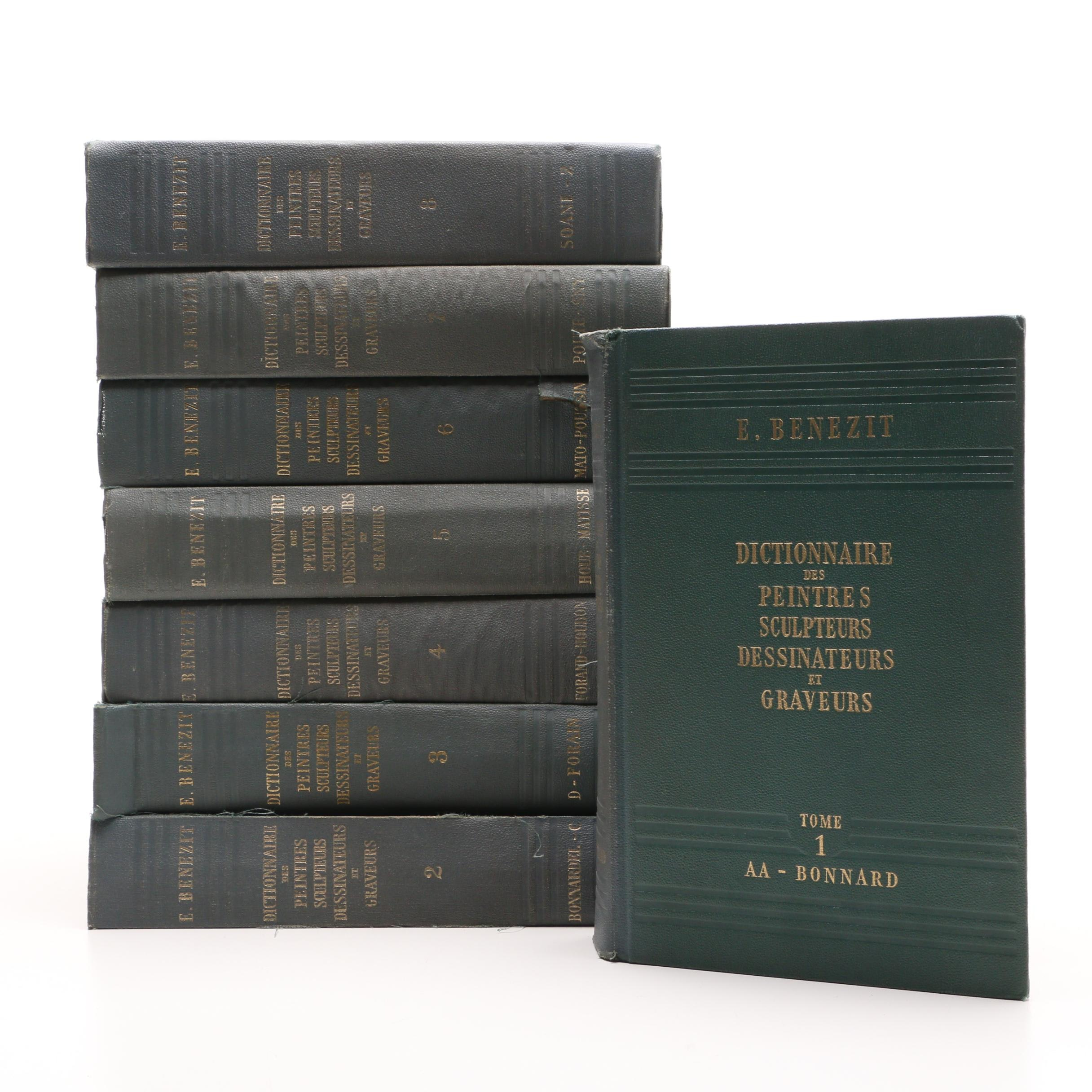 1960 French Dictionary of Art Eight Volume Set