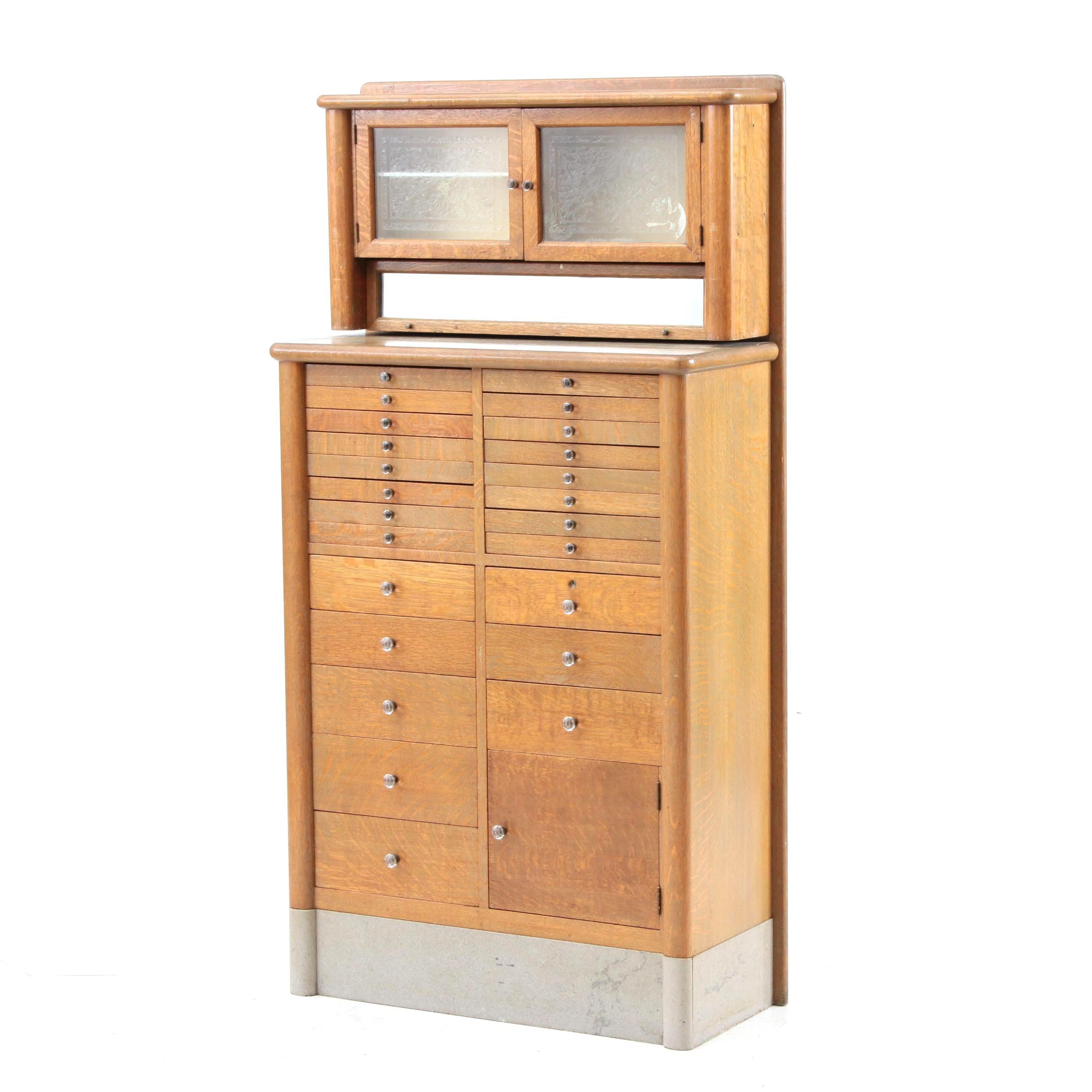Vintage Oak Dental Cabinet By The Harvard Company Ebth