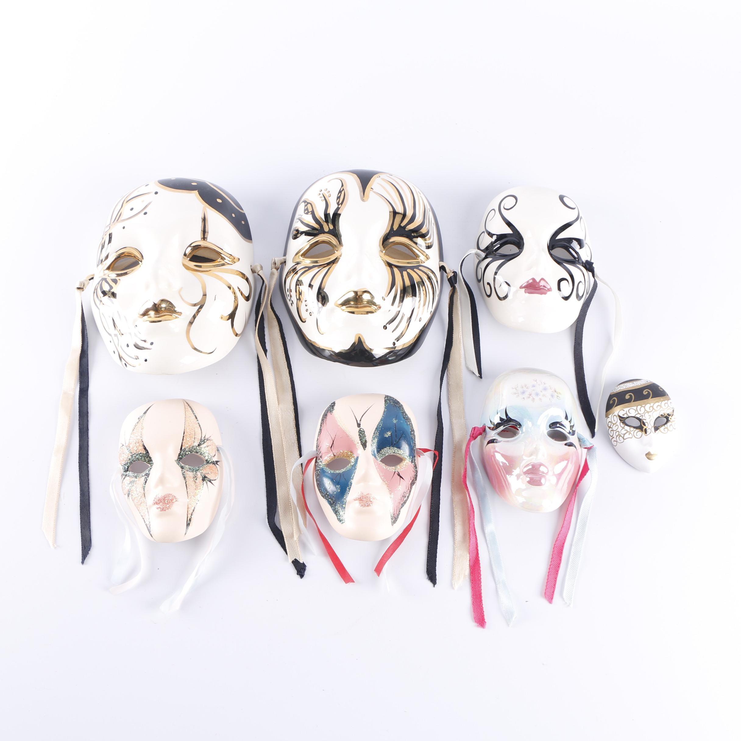 Vintage Ceramic Mardi Gras Masks