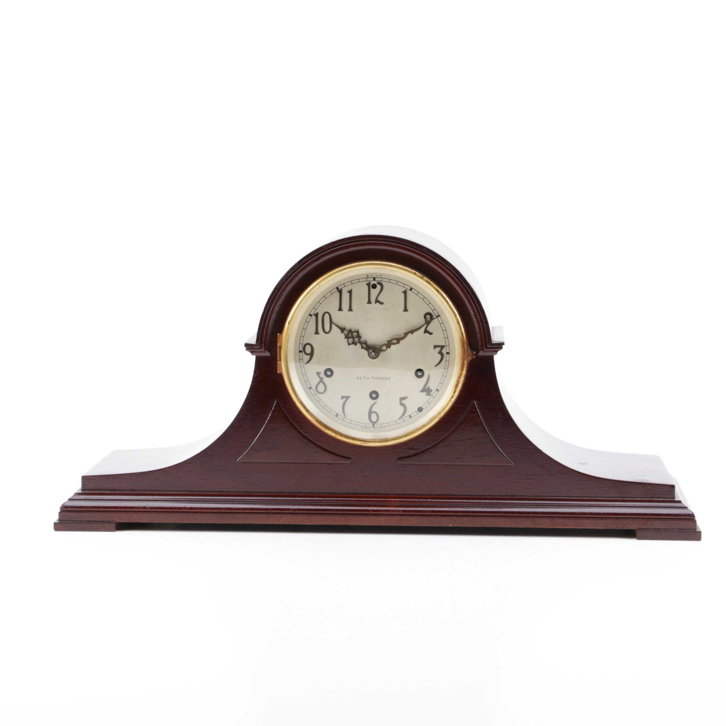 "Seth Thomas ""Roxbury"" Vintage Tambour Mantel Clock"