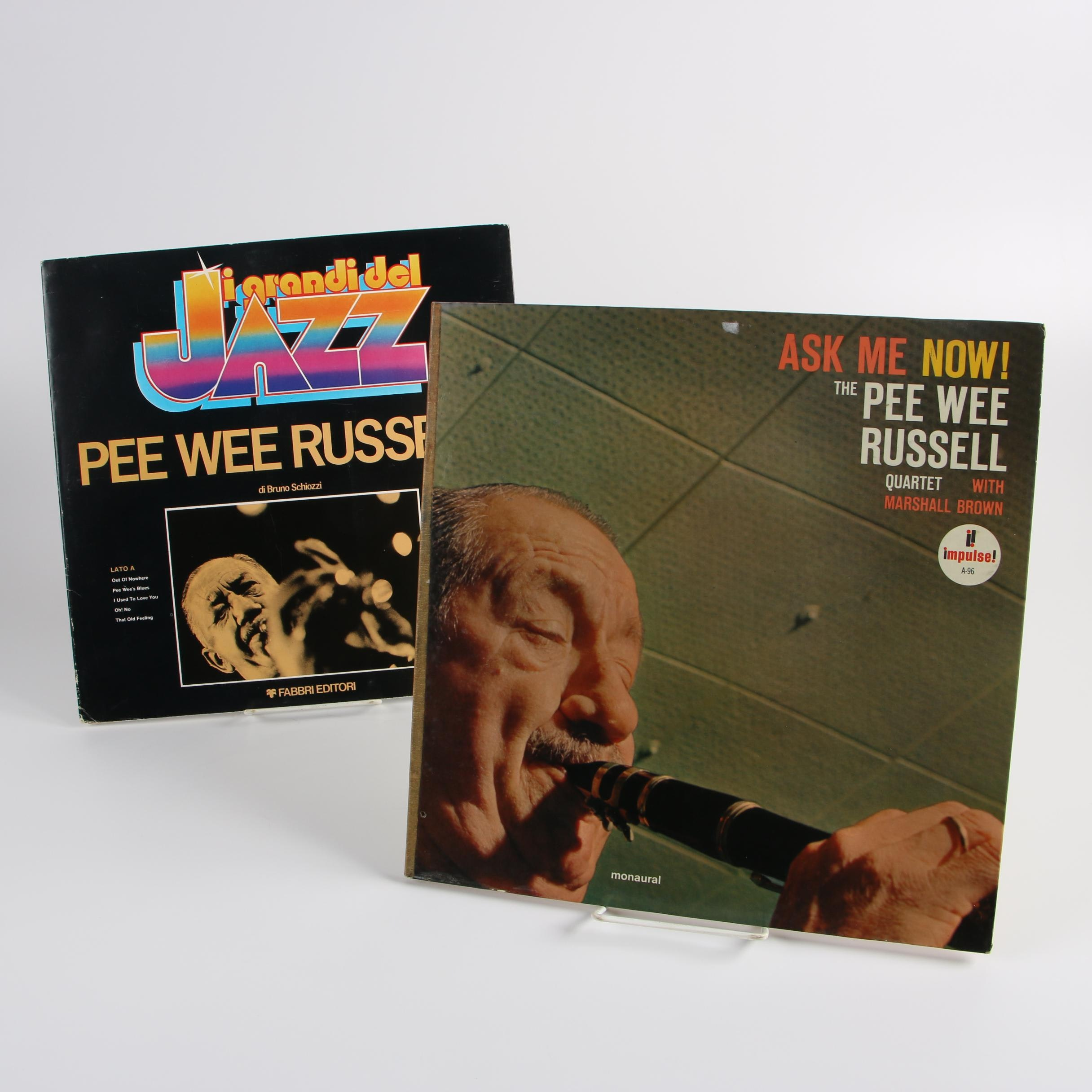 "Pee Wee Russell Vintage Jazz Records ""Ask Me Now!"" and ""I Grandi Del Jazz"""