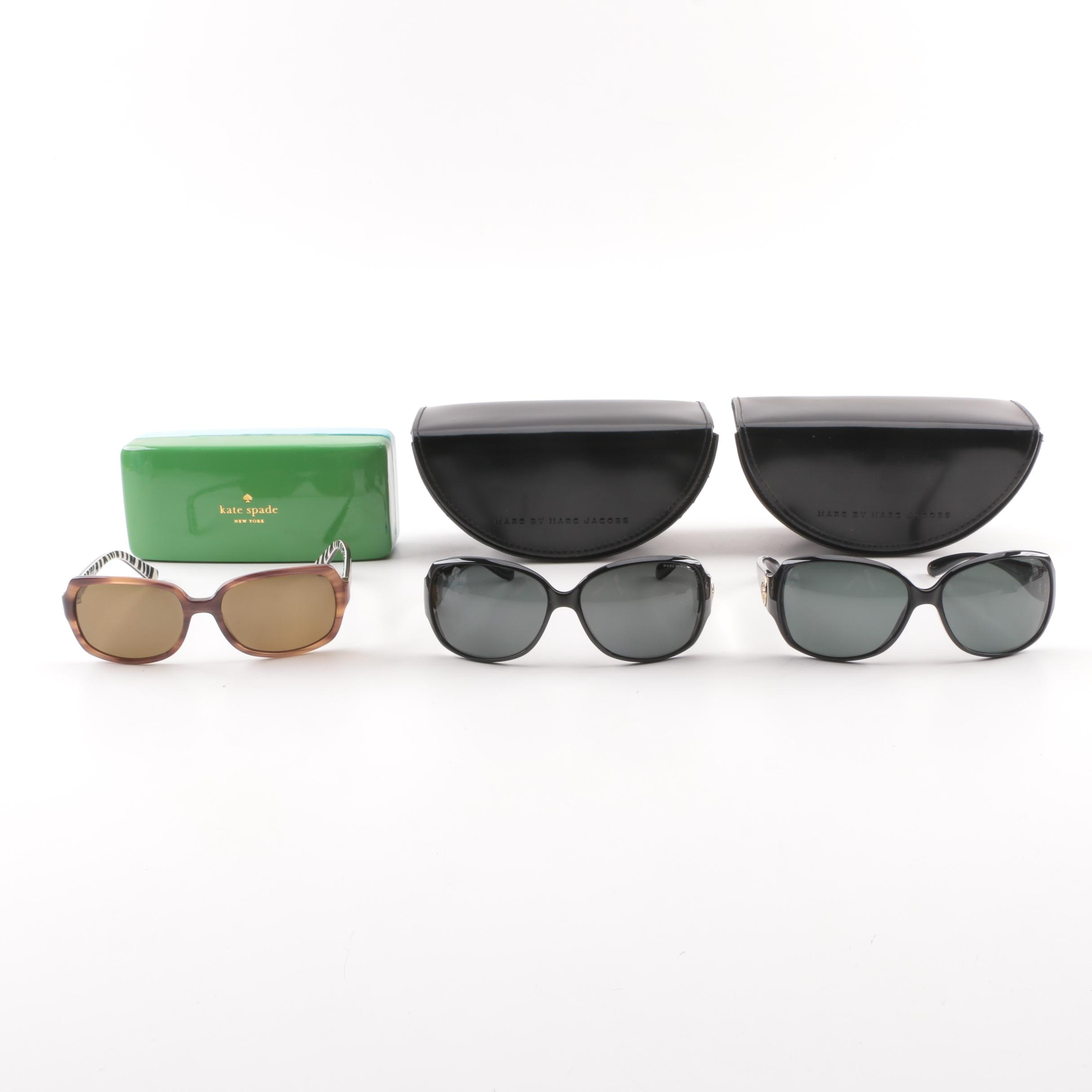 MARC by Marc Jacobs and Kate Spade New York Sunglasses with Cases