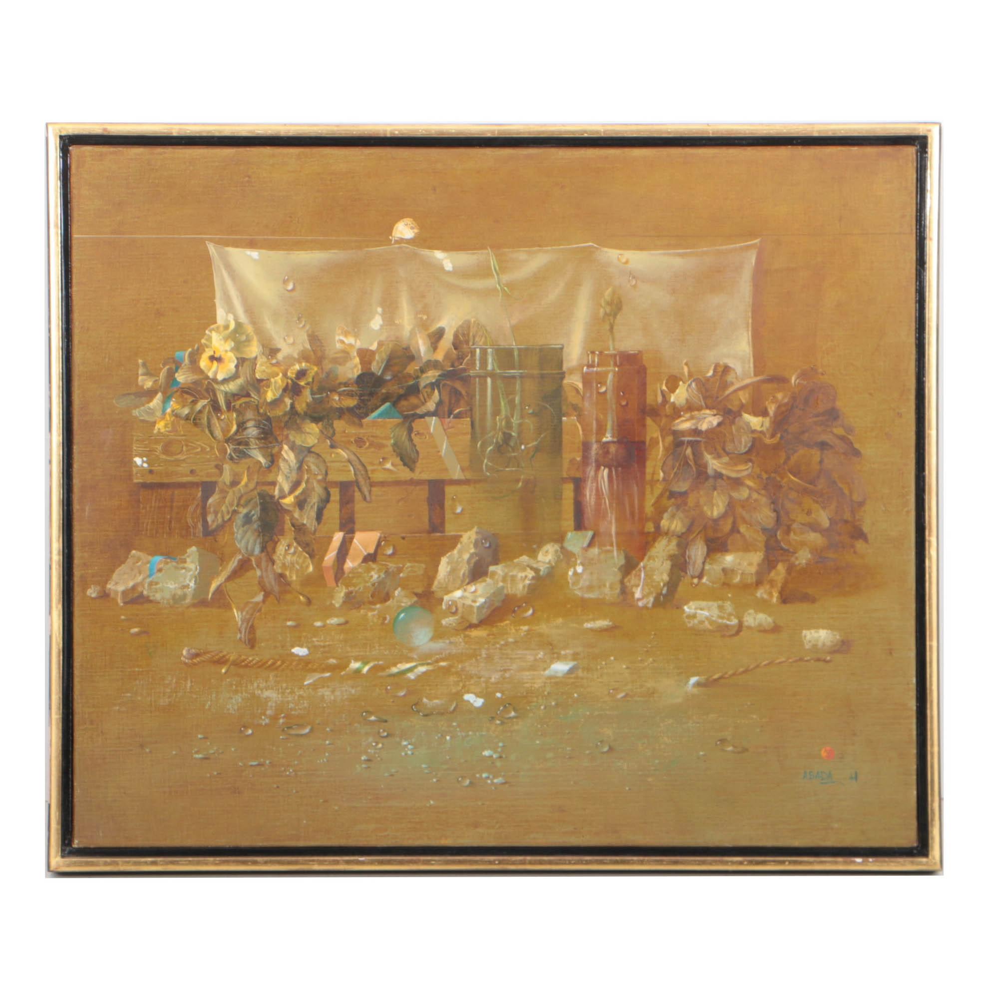 "Hiroshi Asada 1987 Oil Painting ""Spring"""