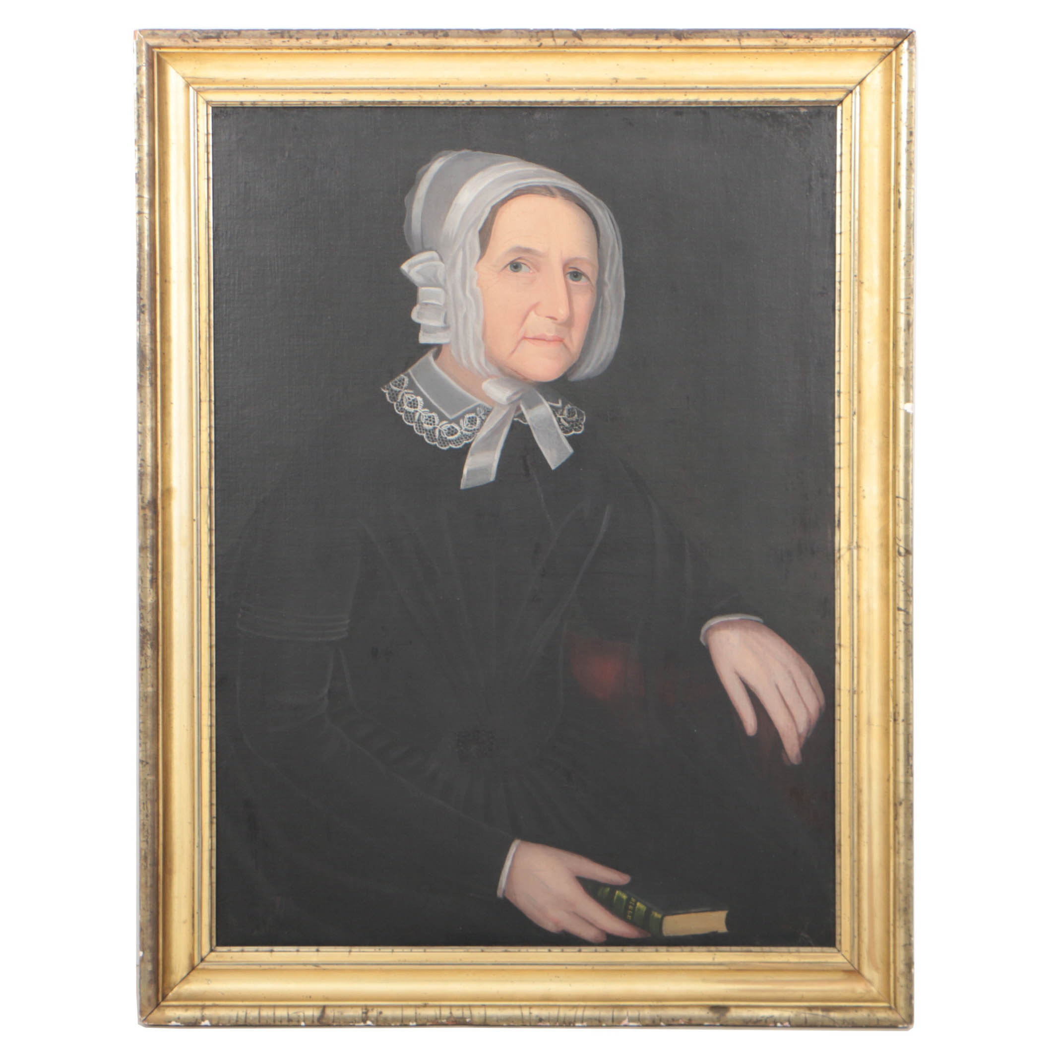 Ammi Phillips Circa 1830 Portrait of a Lady Oil on Canvas