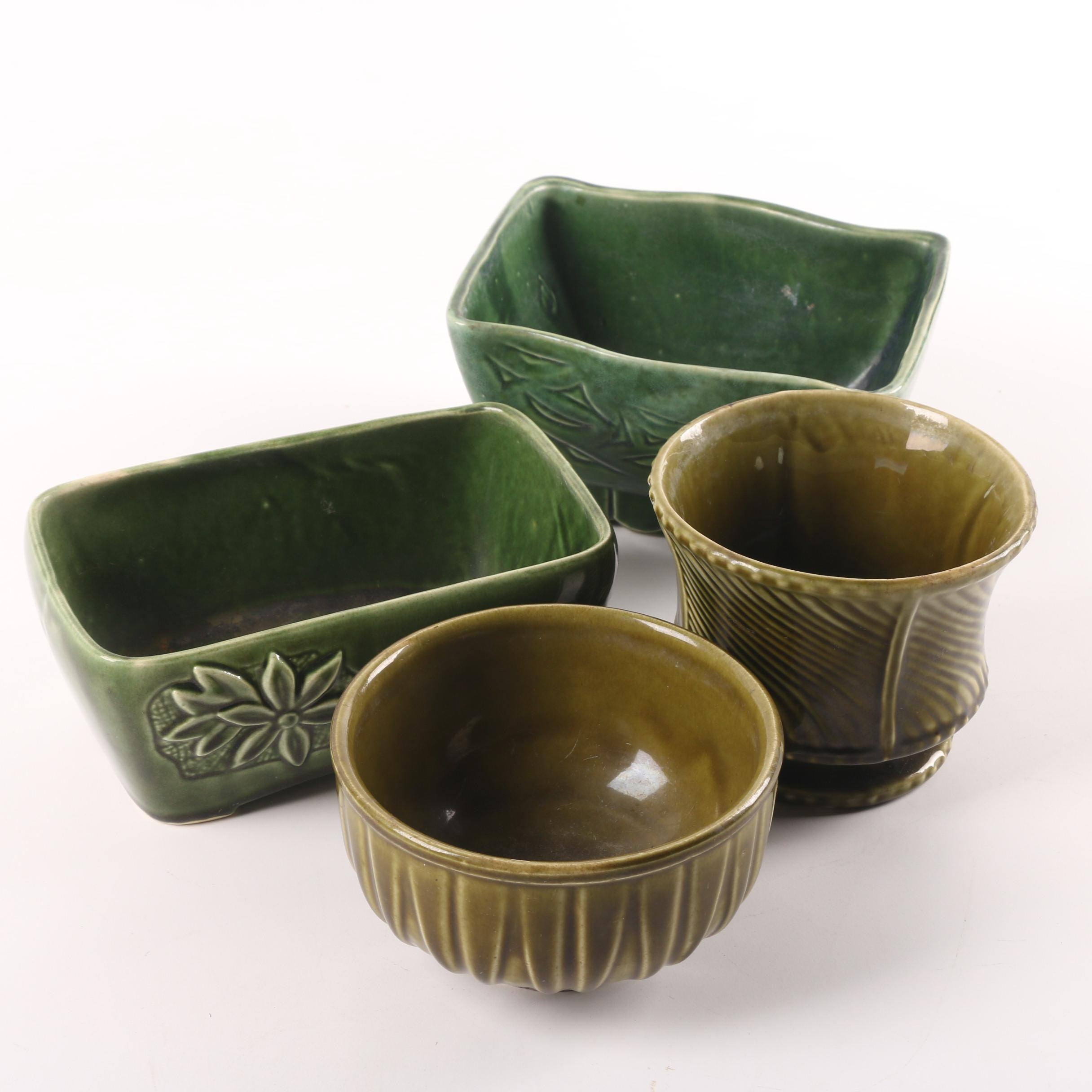 Vintage Ceramic Planters Including Cookson Pottery