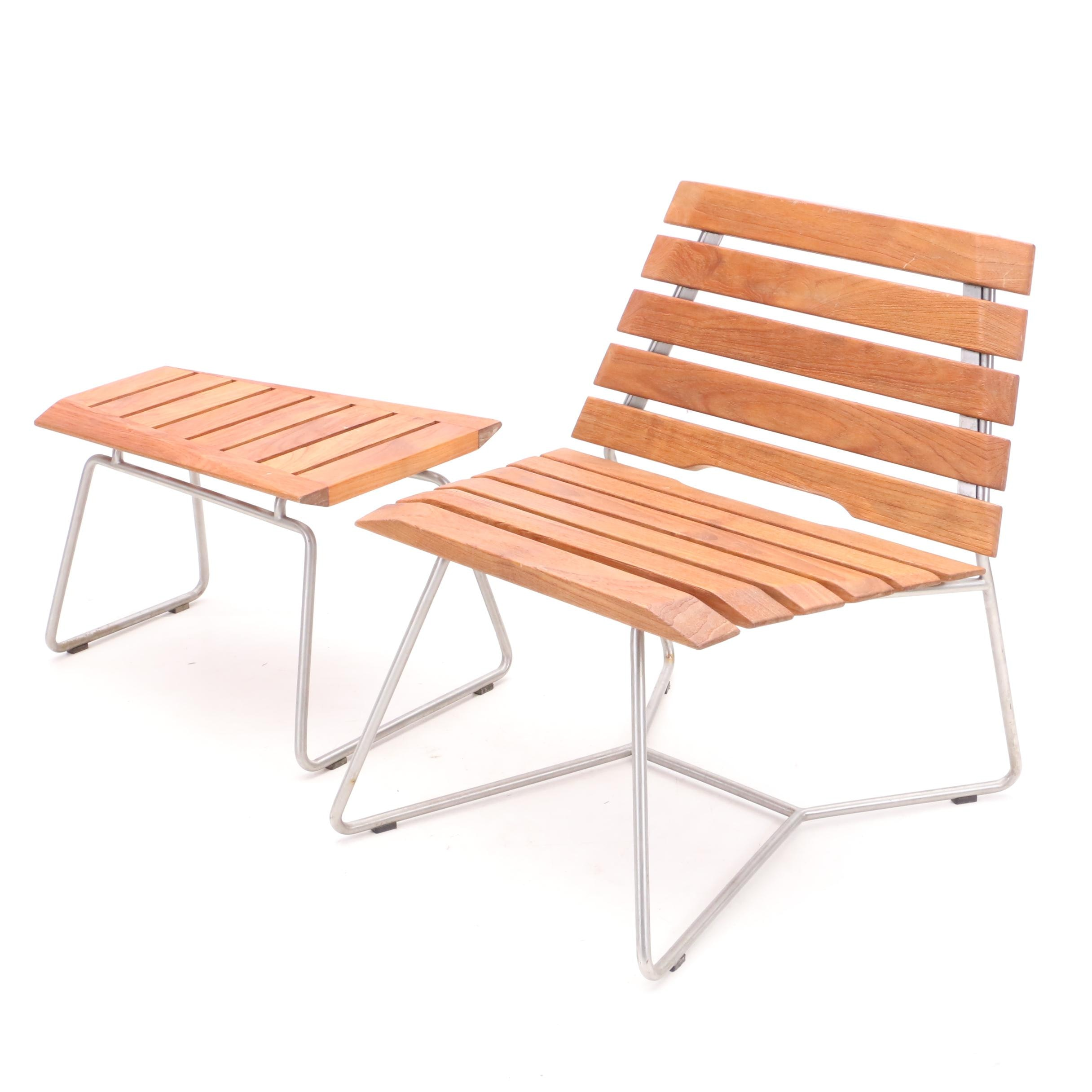 "Selamat ""Stratus"" Lounge Chair and End Table"
