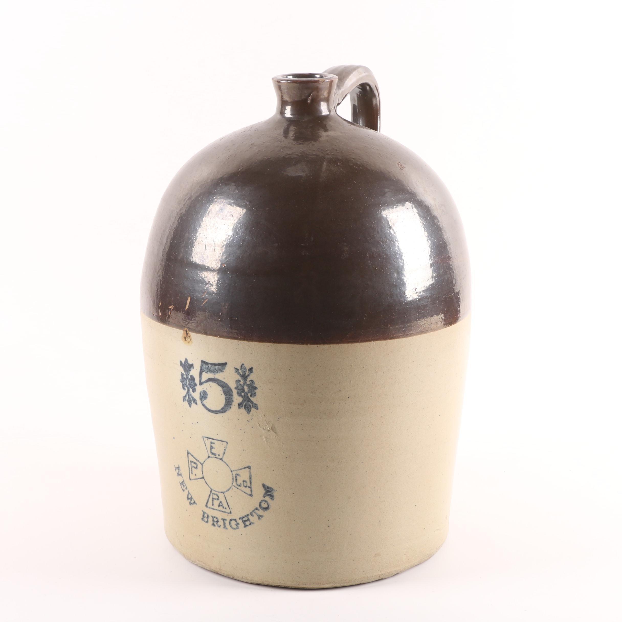 Vintage Enterprise Pottery Stoneware Jug