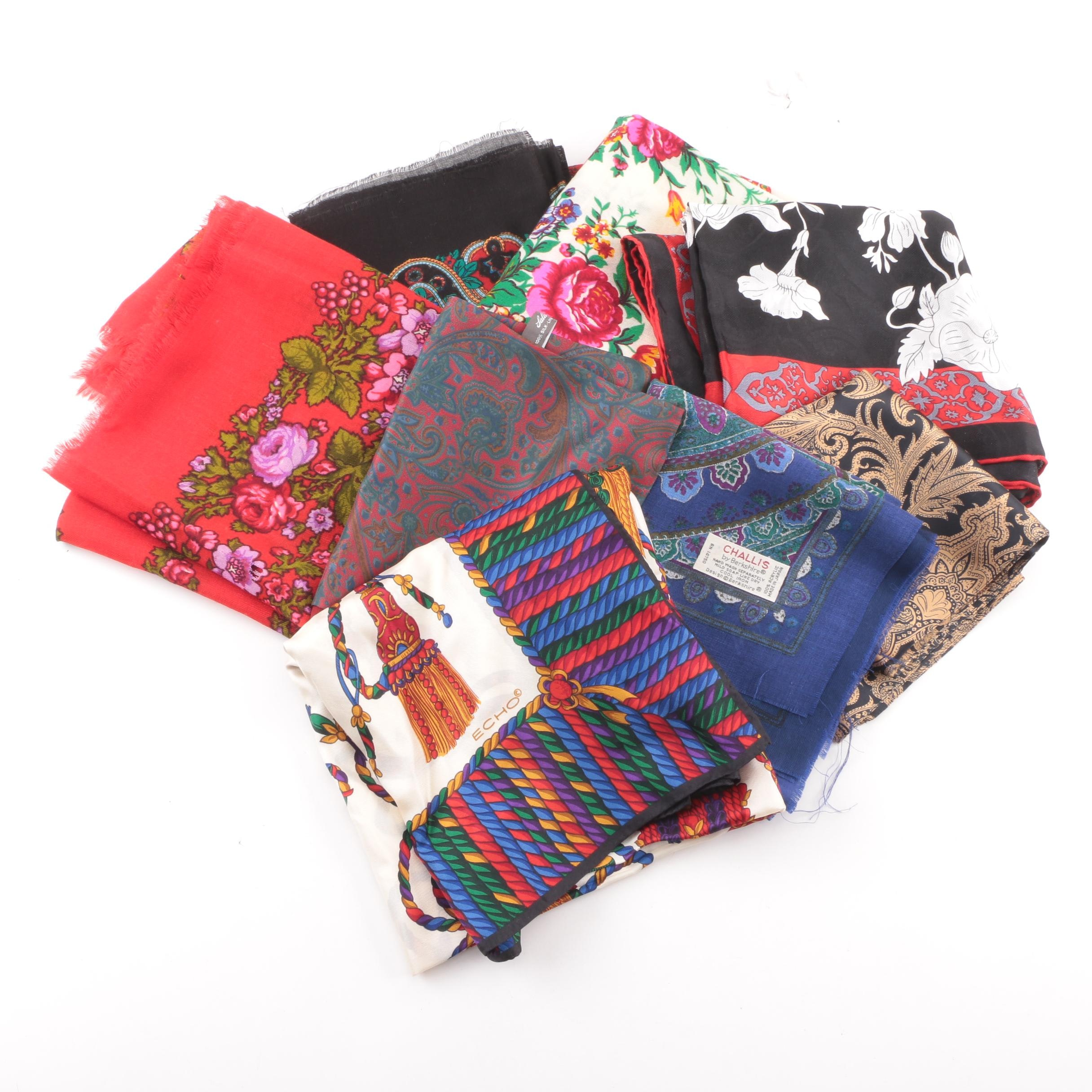 Women's Fashion Scarves including Echo, Saldarini and Challis by Berkshire