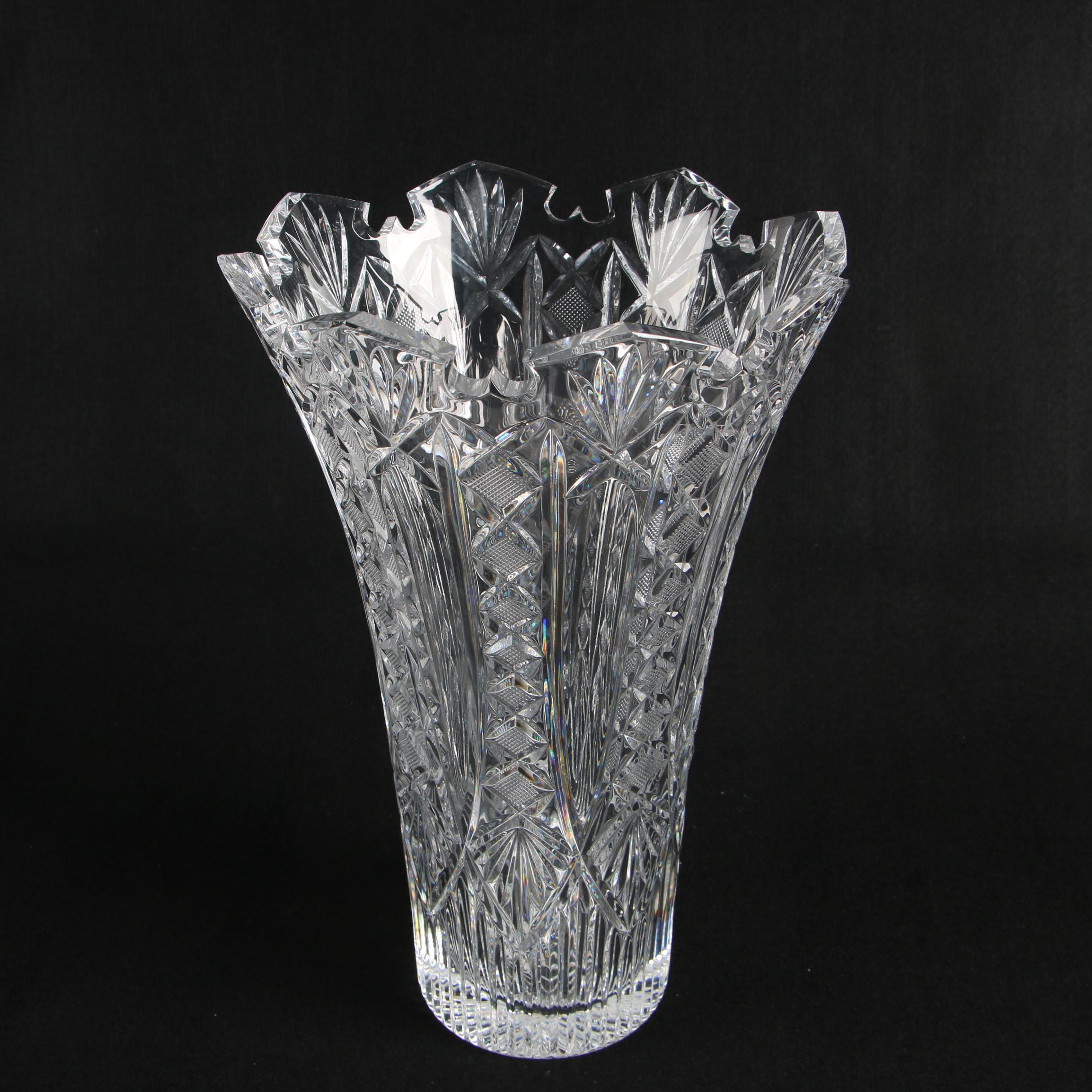 "Waterford Crystal ""Designers Gallery Collection; Maritana"" Vase"
