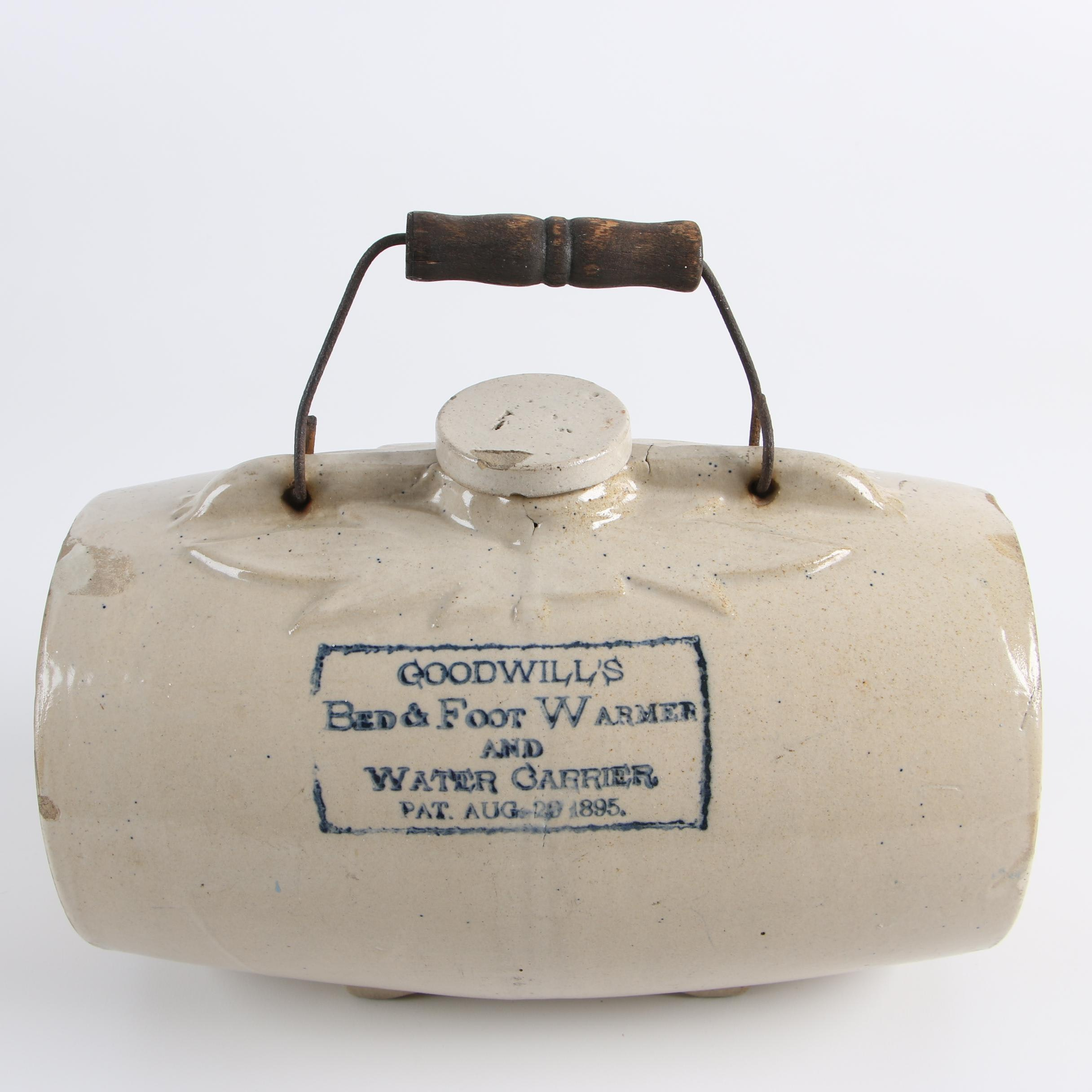 Goodwill's Stoneware Hot Water Bottle, Patented 1895