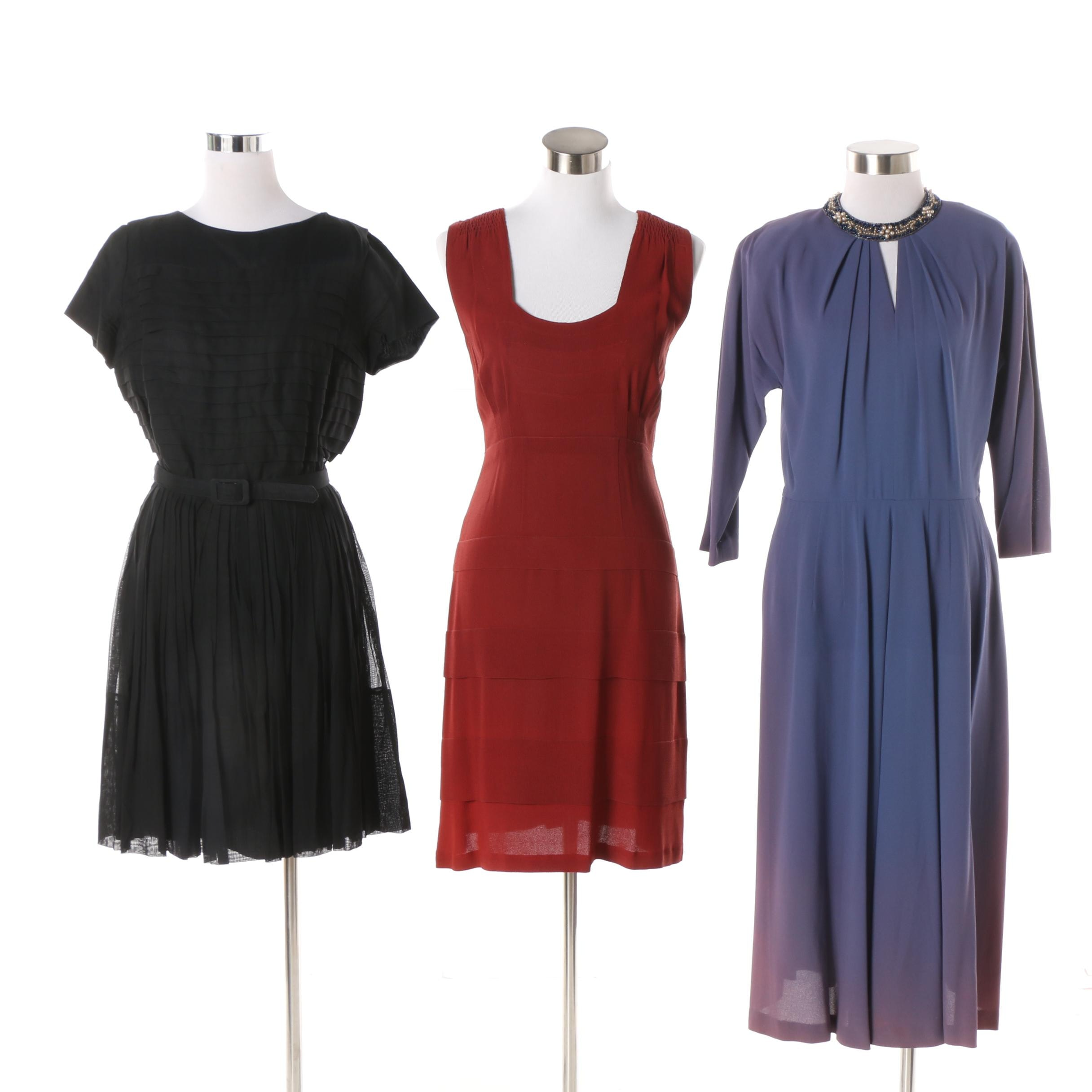 Women's Vintage Dresses Including Nelson-Caine New York and Henry-Lee