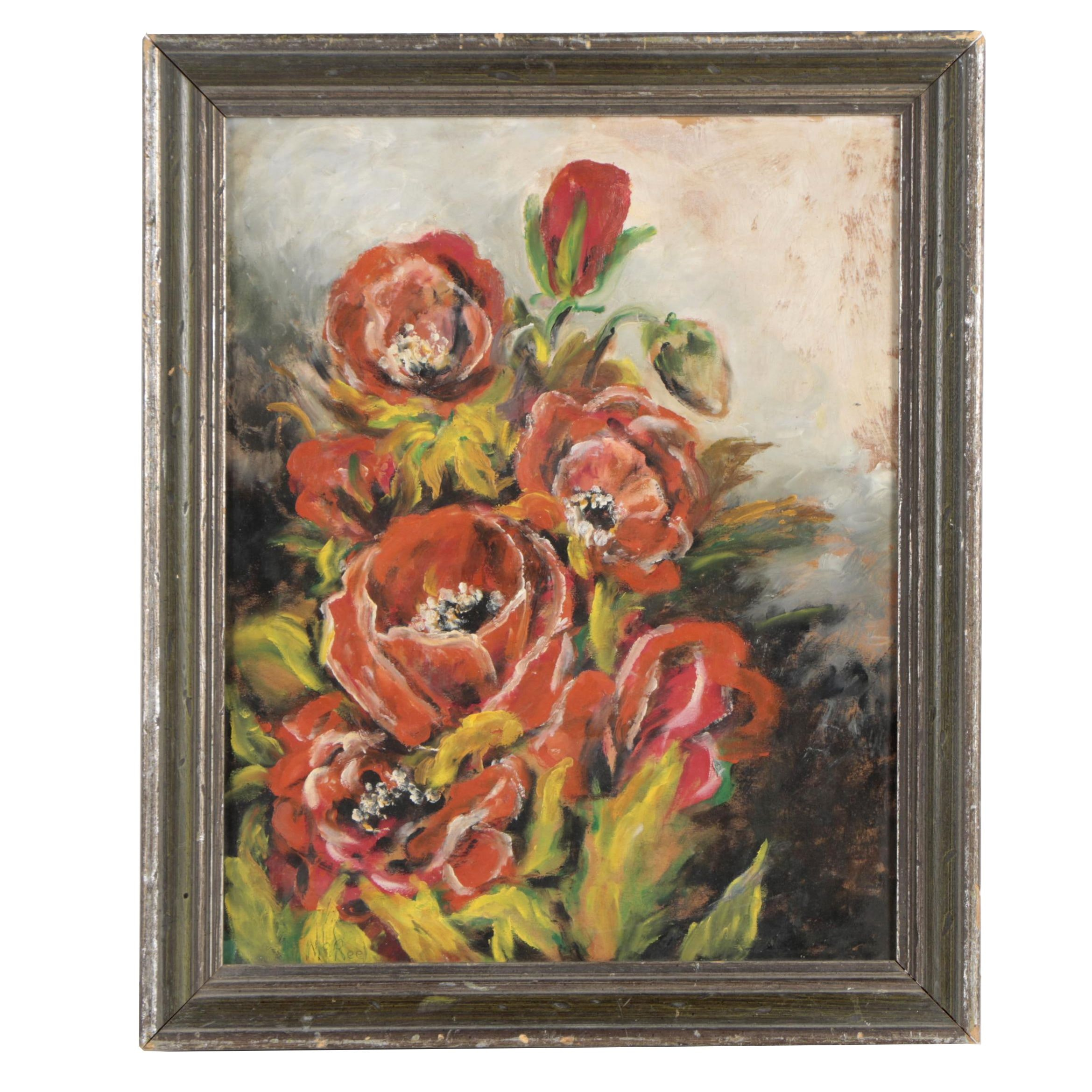 Vintage Still Life Oil Painting Attributed to McReel