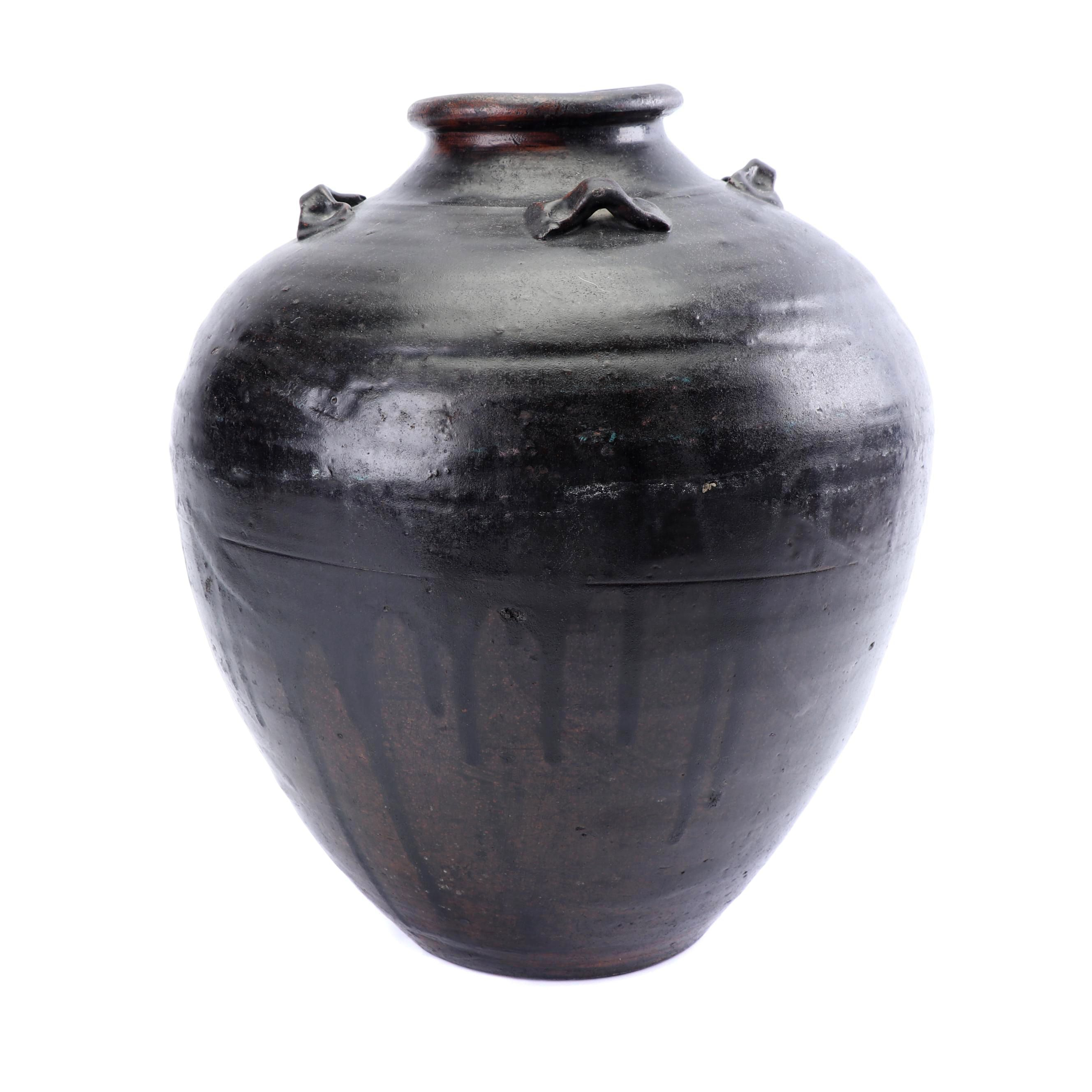 Chinese Style Earthenware Water Jar