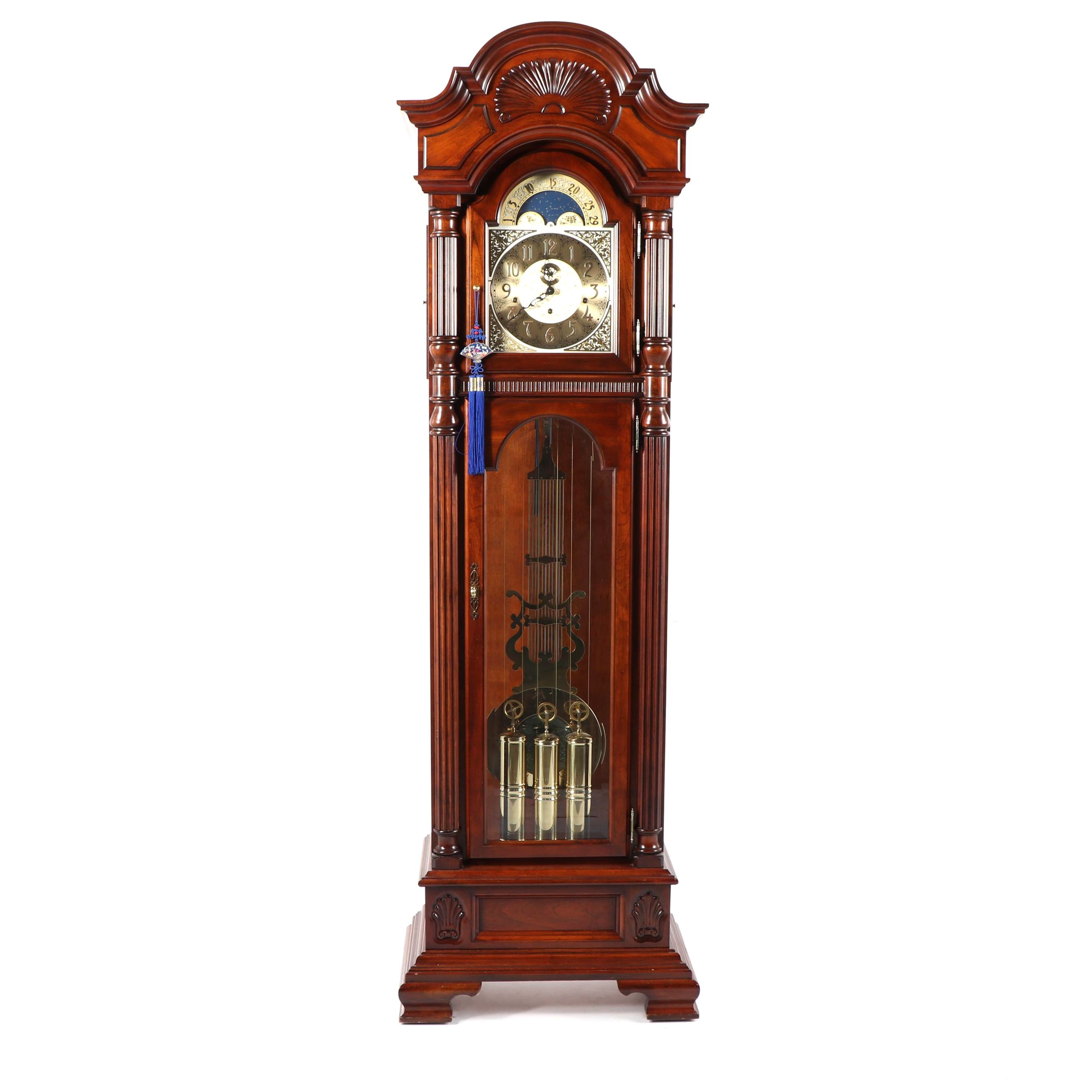 Sligh Grandfather Clock with Moon Phase Dial