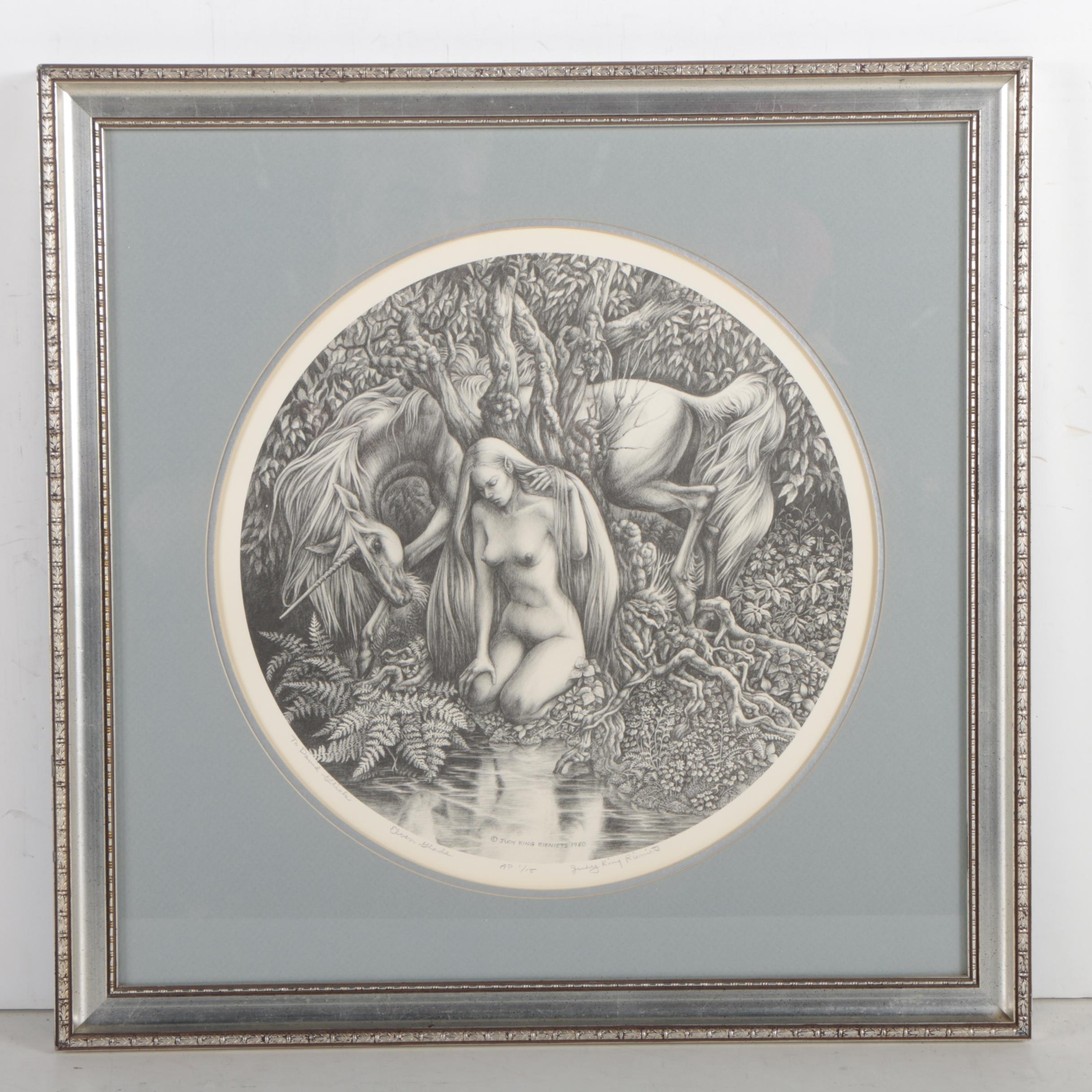 """Judy King Rieniets Offset Lithograph """"Eleven Glade"""""""