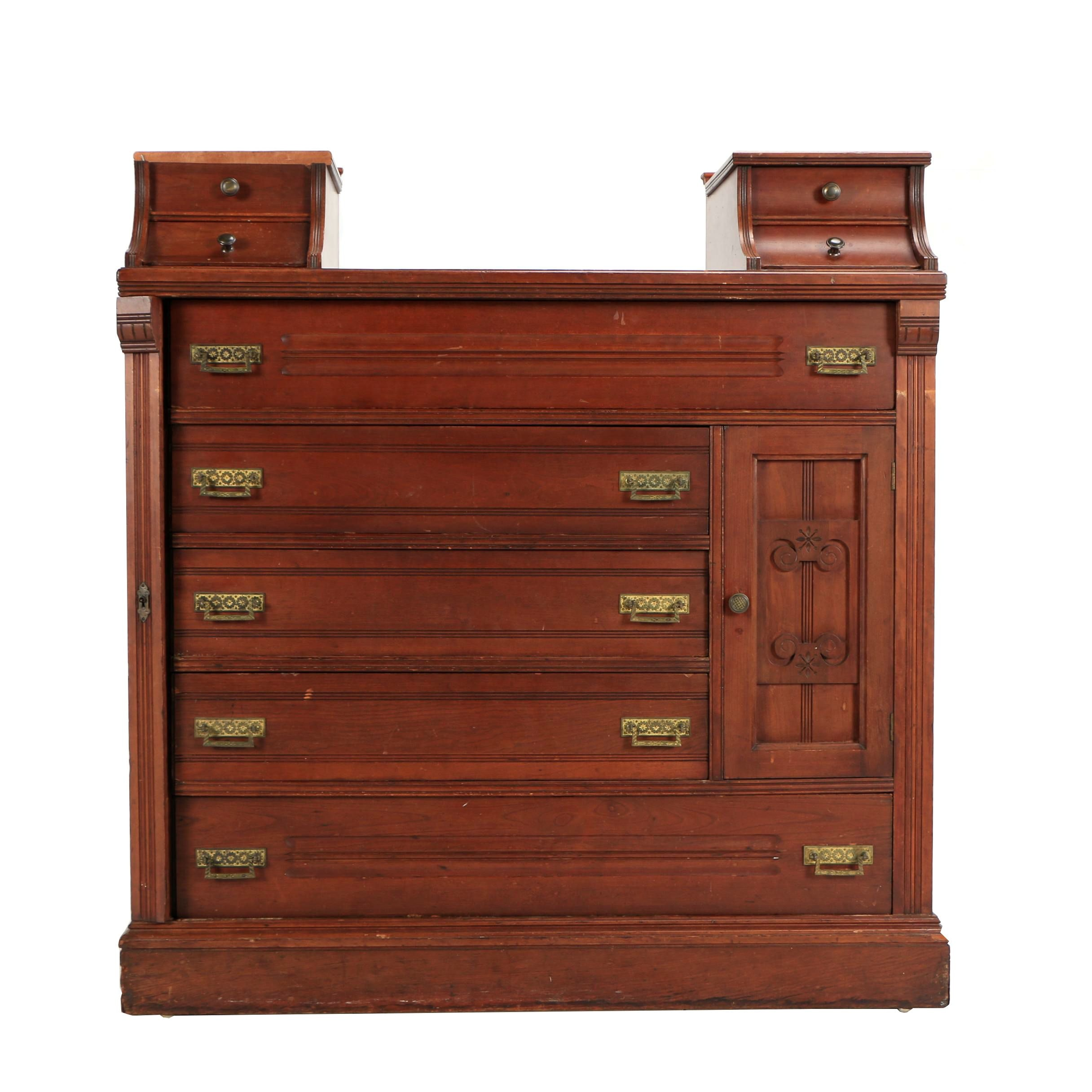 Eastlake Lockside Dresser with Hatbox Cabinet