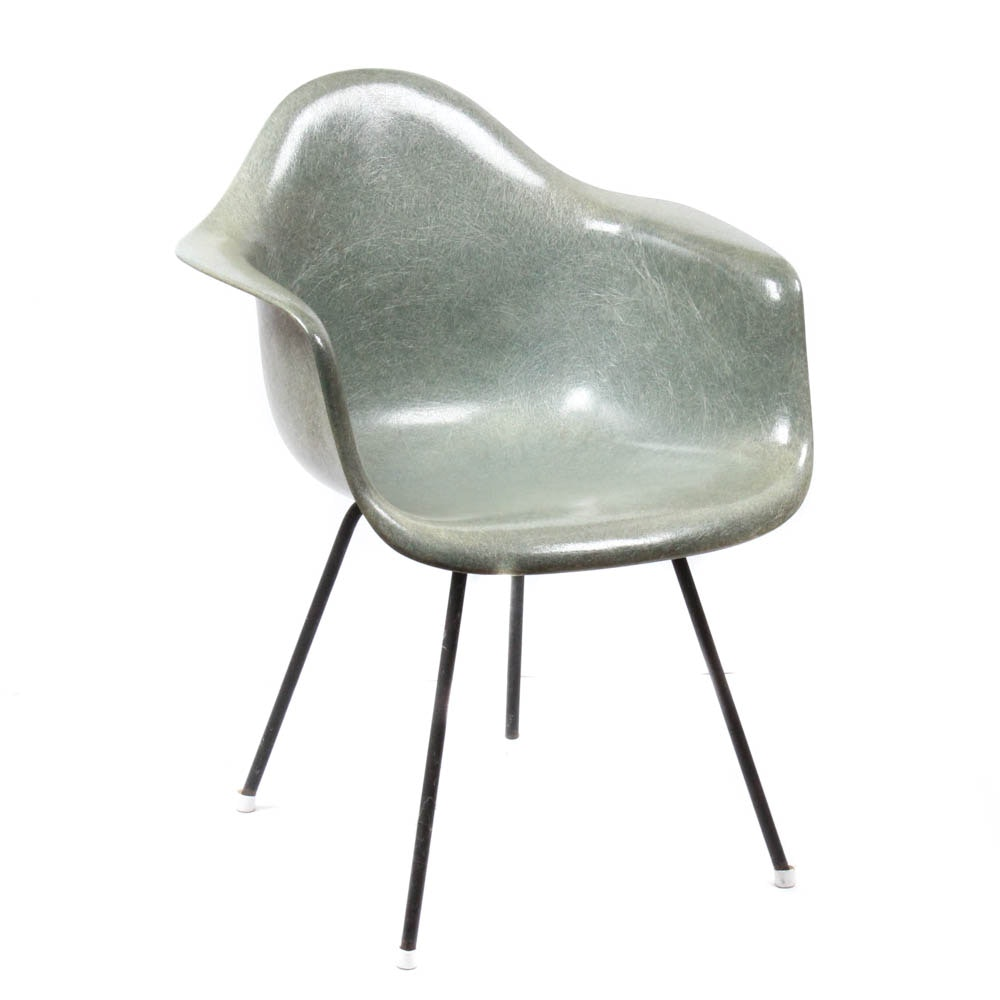 Eames For Herman Miller Seafoam Green Shell chair