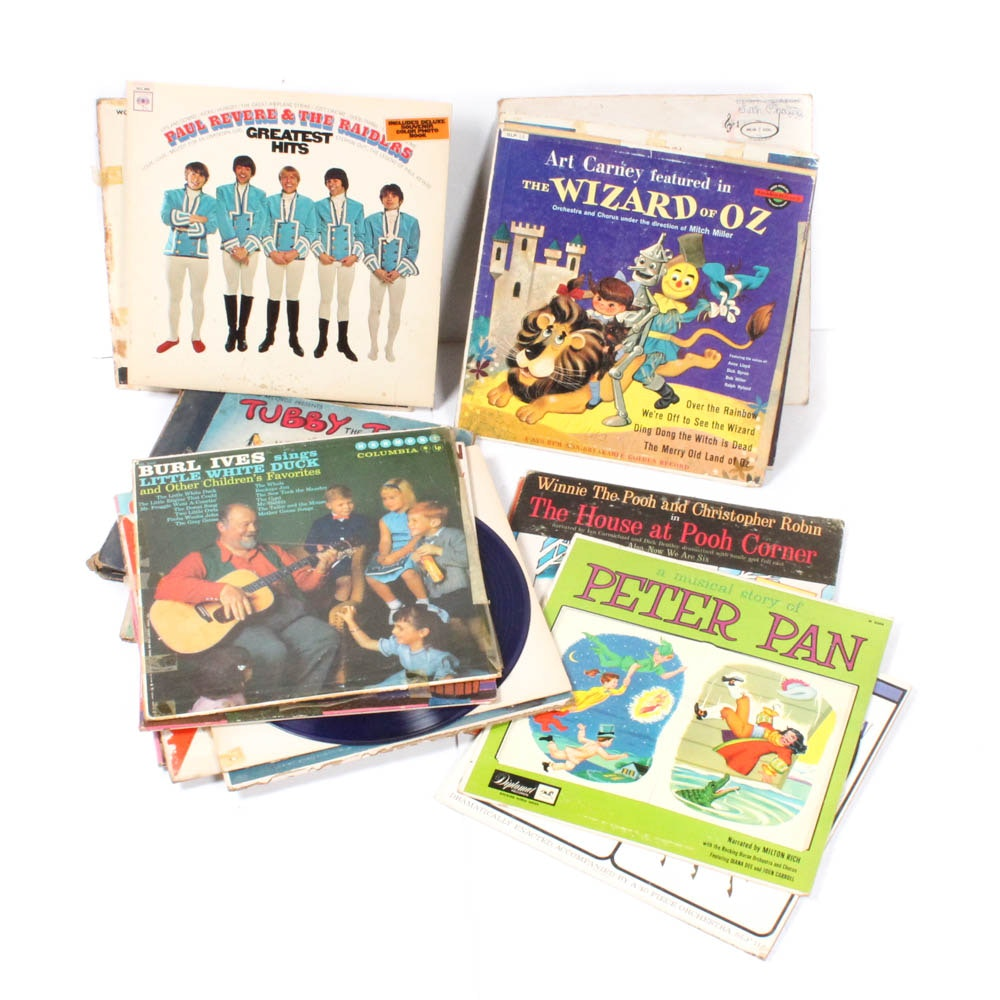 Vintage Records Featuring Children's Stories and Songs