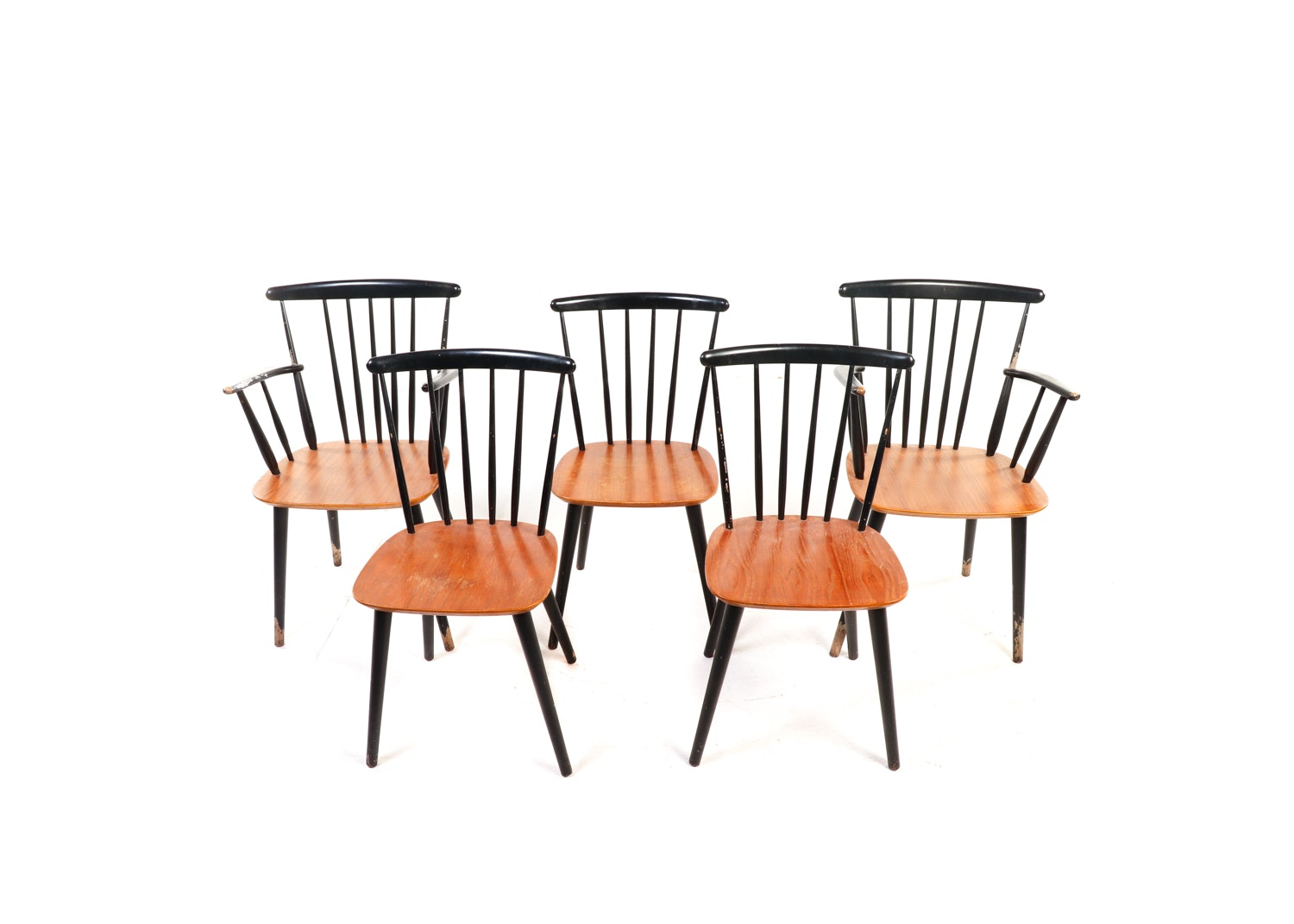 Danish Modern Spindle Back Chairs