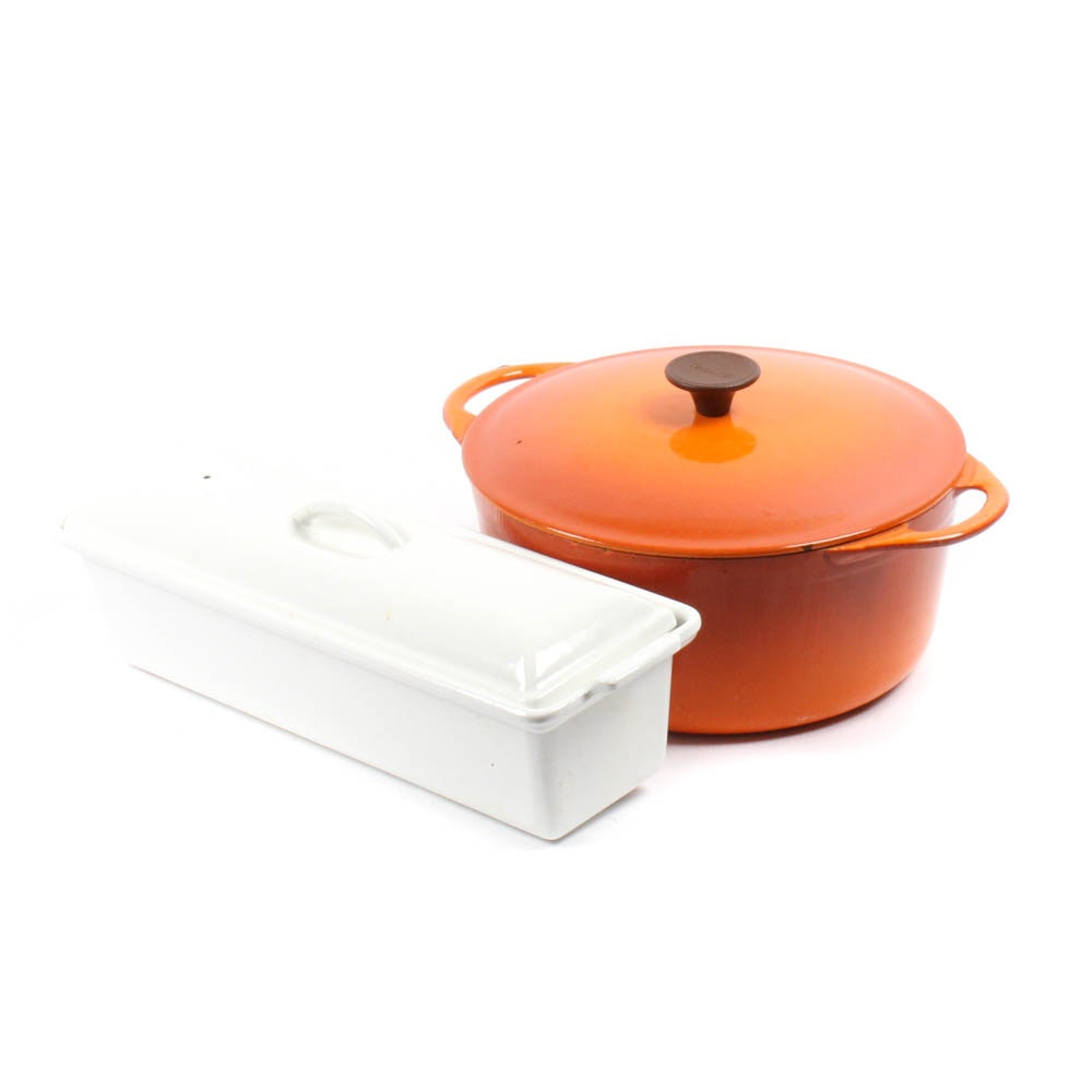 Le Creuset Pate Terrine and Cousances Enameled Dutch Oven