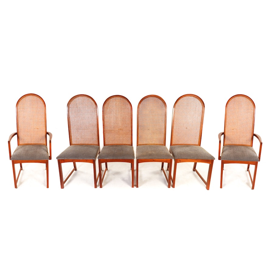 c066567b613c0 Milo Baughman for Dillingham Arched Cane Back Dining Chairs   EBTH