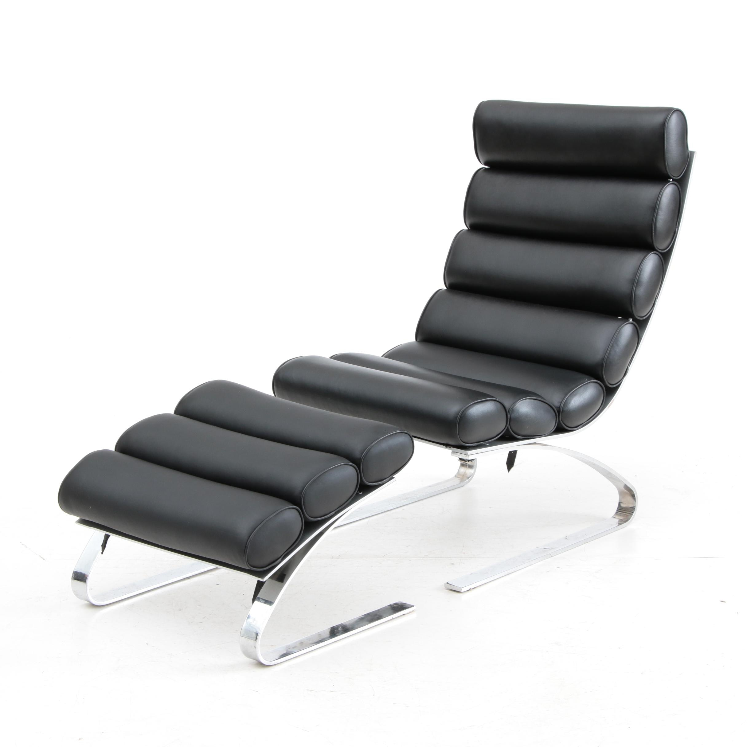 Cantilever Lounge Chair with Footstool