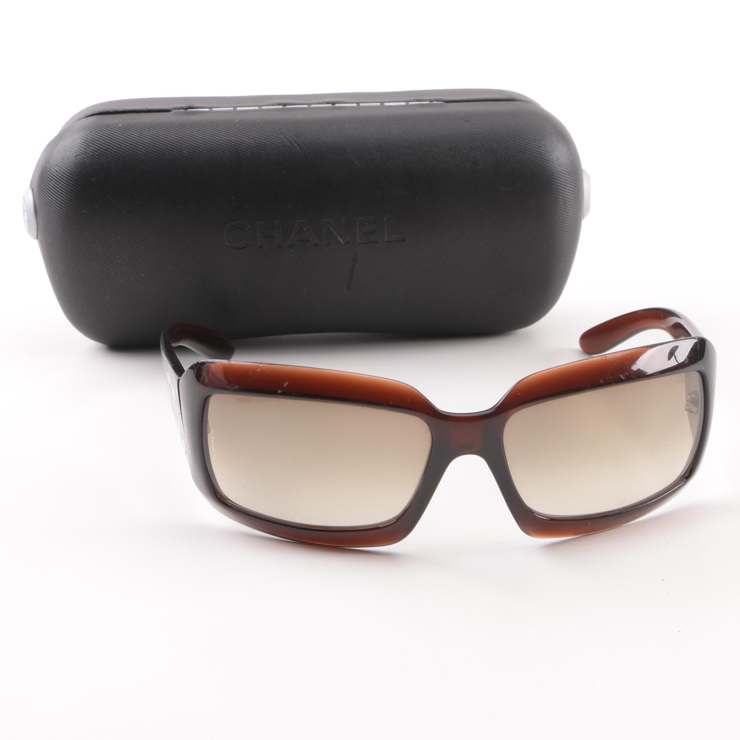 Chanel Brown Sunglasses with Case