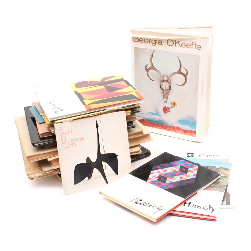 Vintage Art Books Featuring Calder, Munch, and Vasarely
