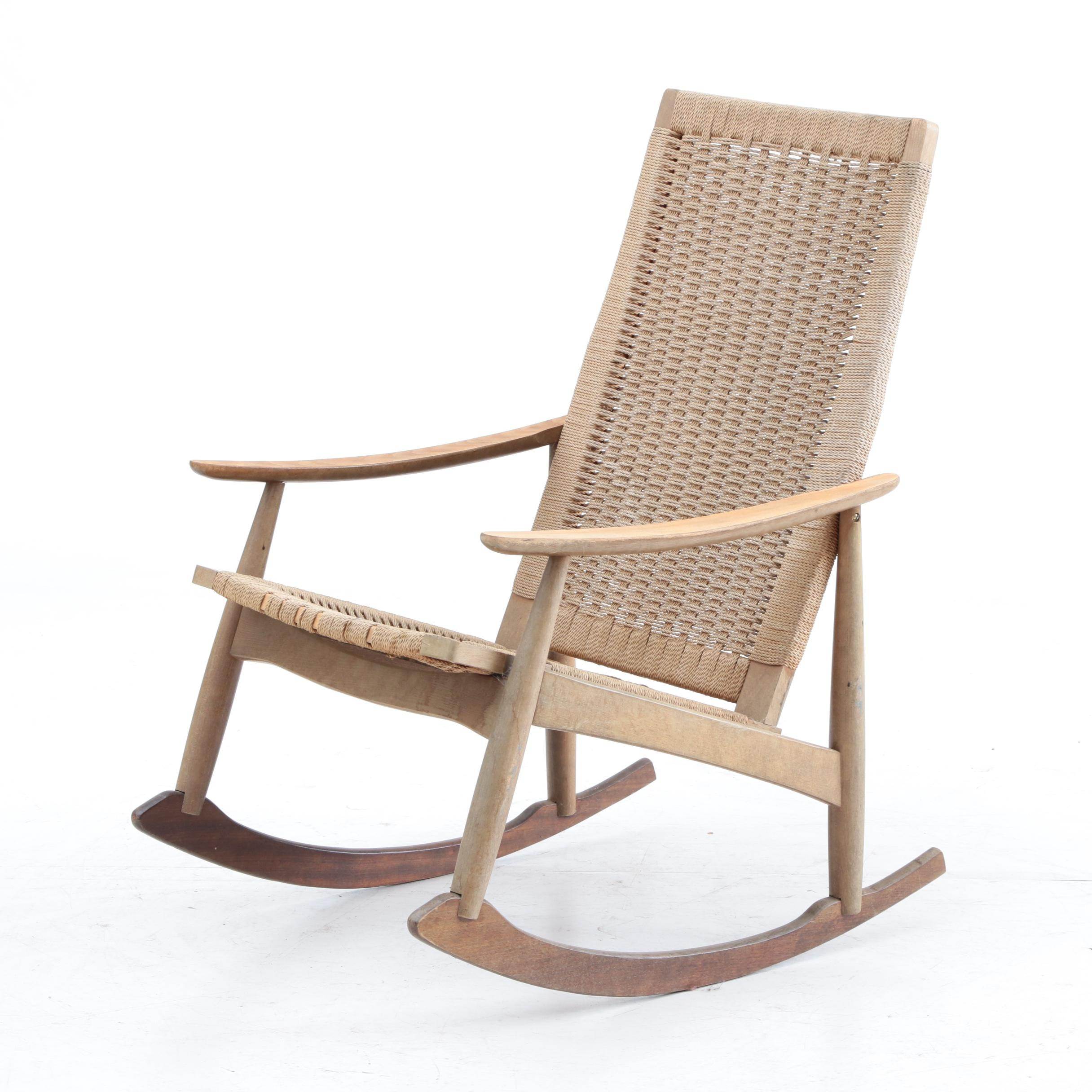 Woven Seagrass Rocking Chair