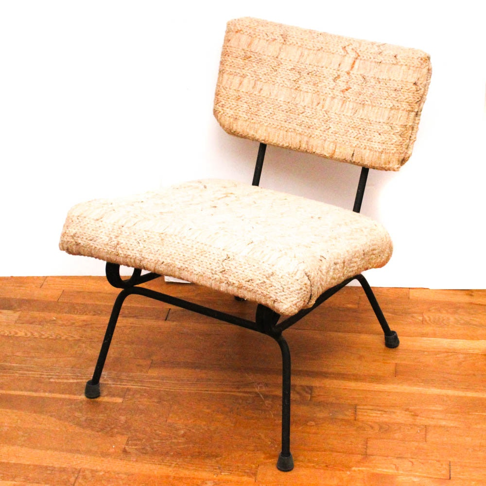 Mid Century Modern Metal Framed Chair