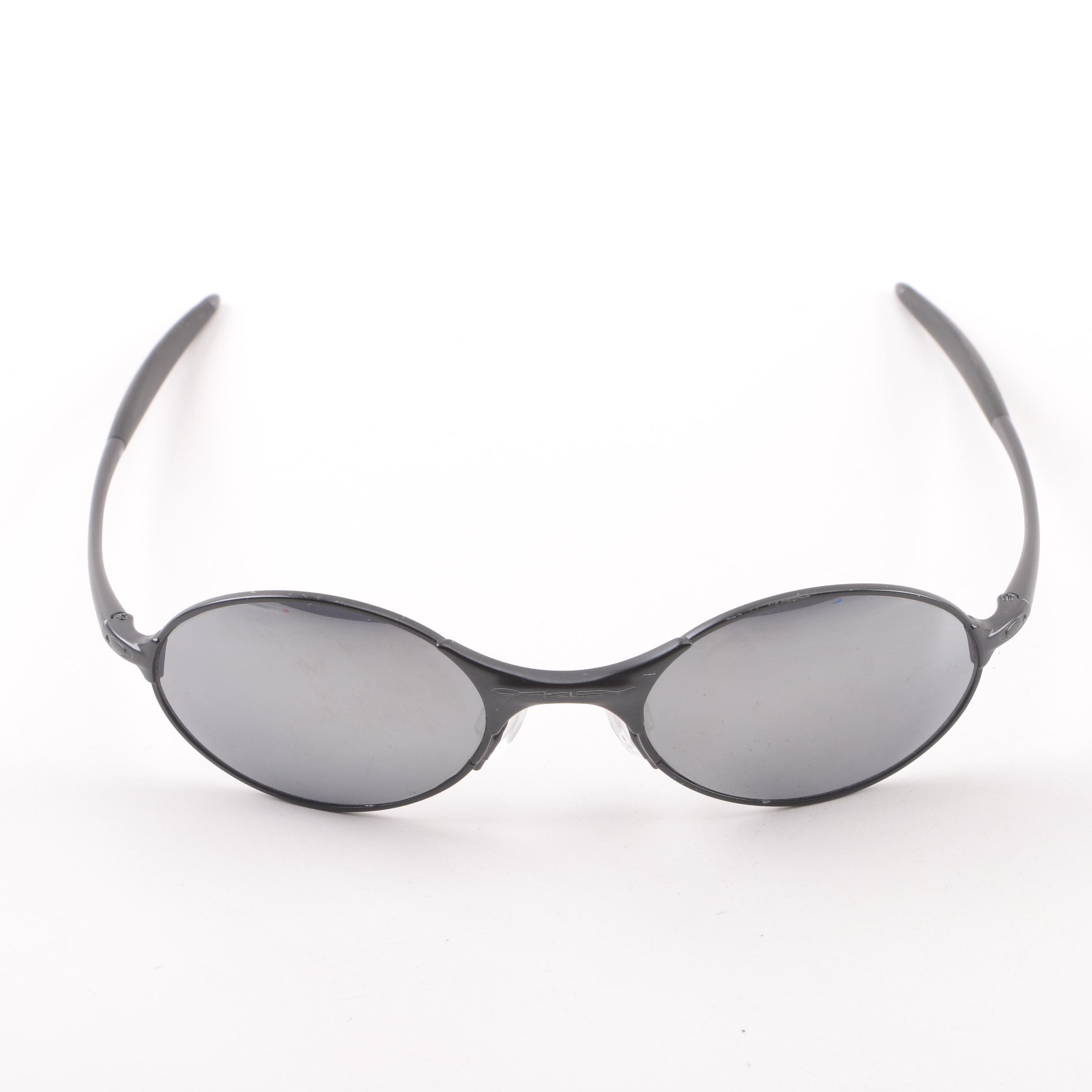Oakley Black Oval Sport Style Sunglasses