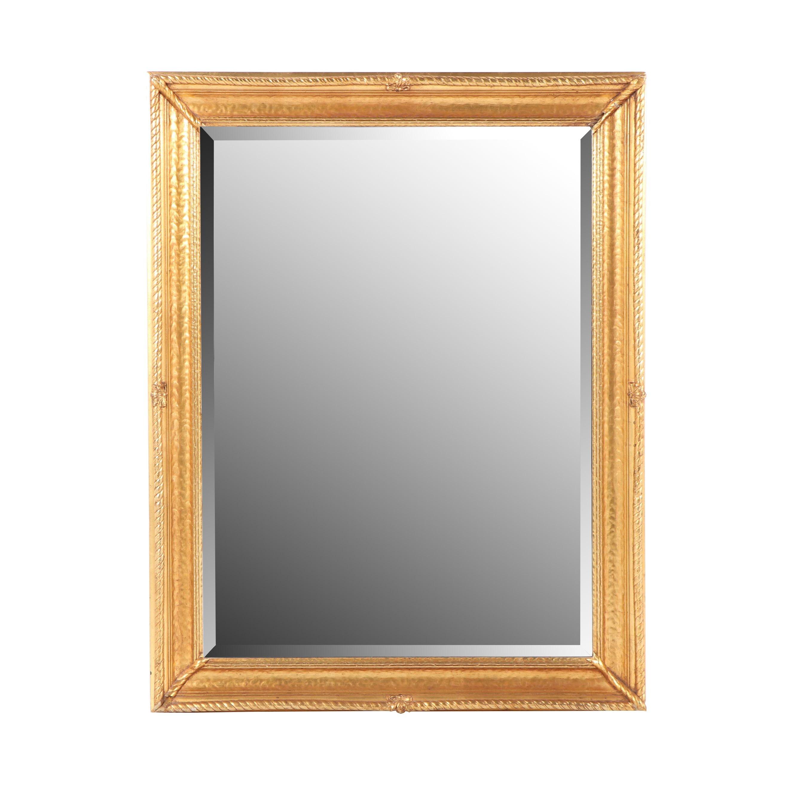 Vintage Binswanger Mirror Co. Giltwood Wall Mirror