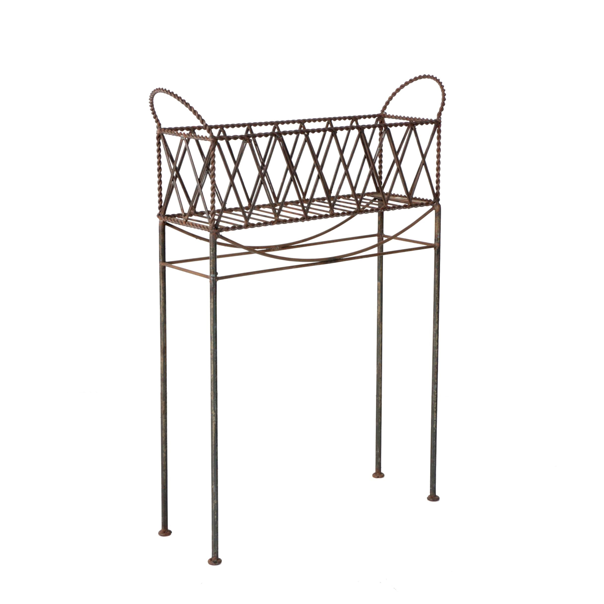Vintage Metal Planter Stand by Mesa International