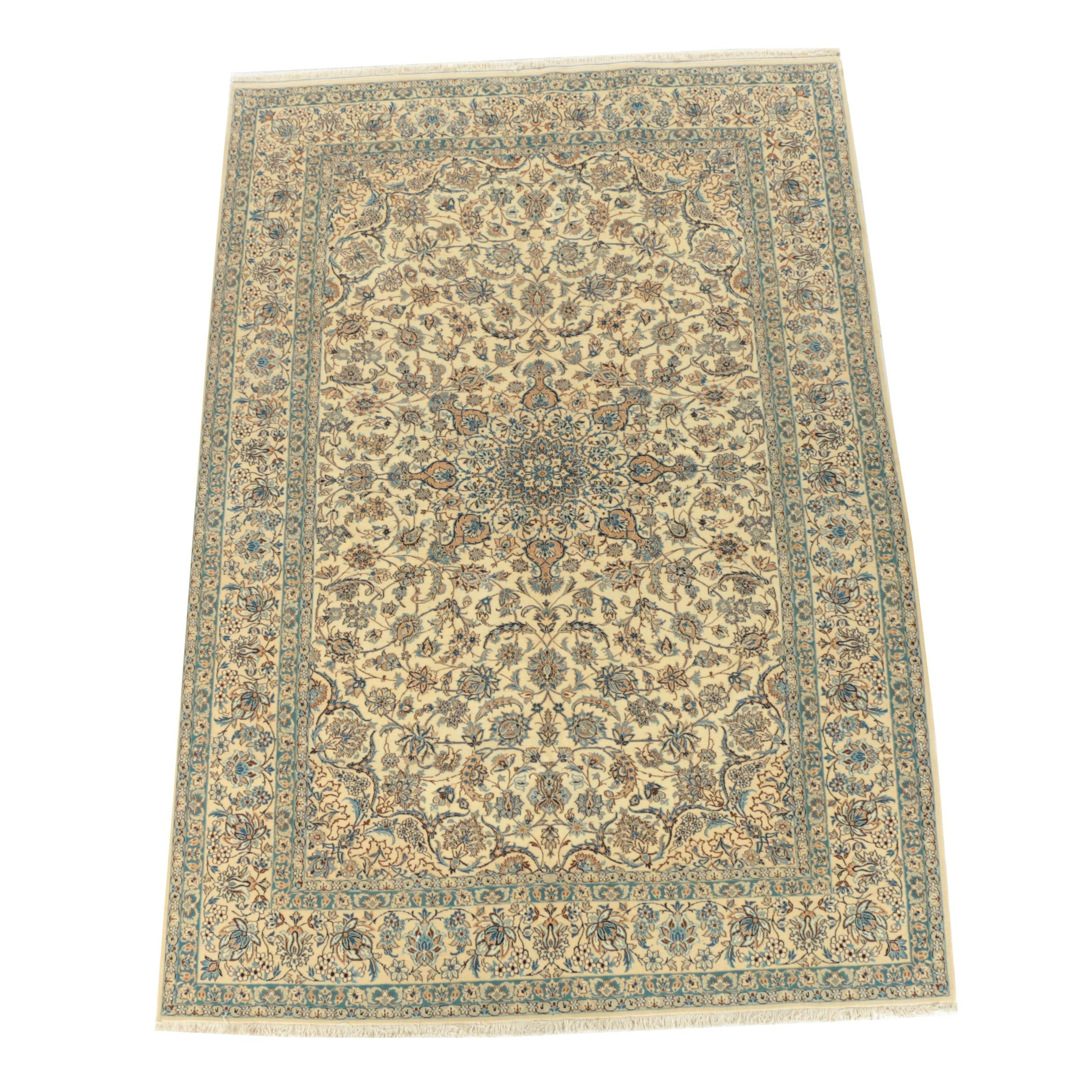 Hand-Knotted Transylvanian Nain Wool Area Rug