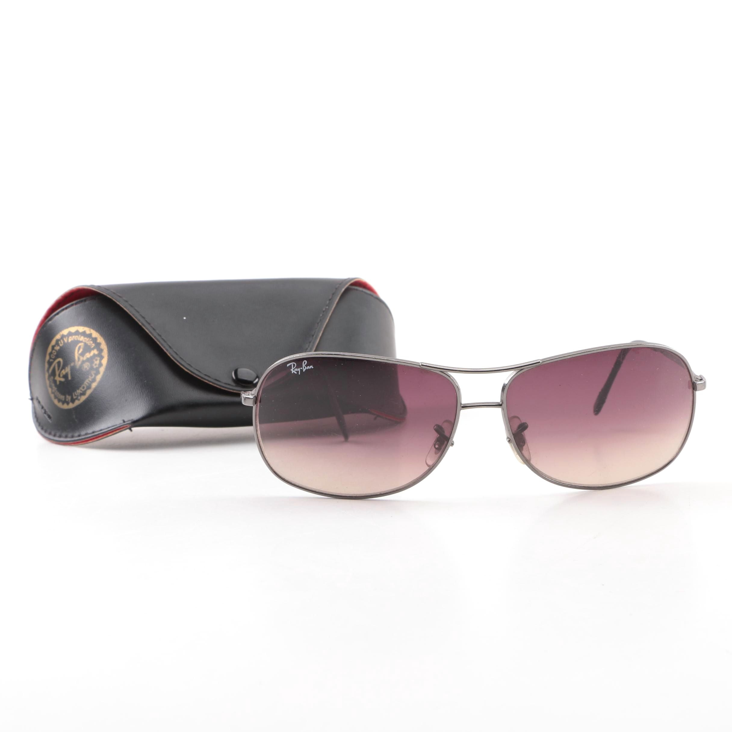 Ray-Ban 3267 Aviator Style Sunglasses with Case