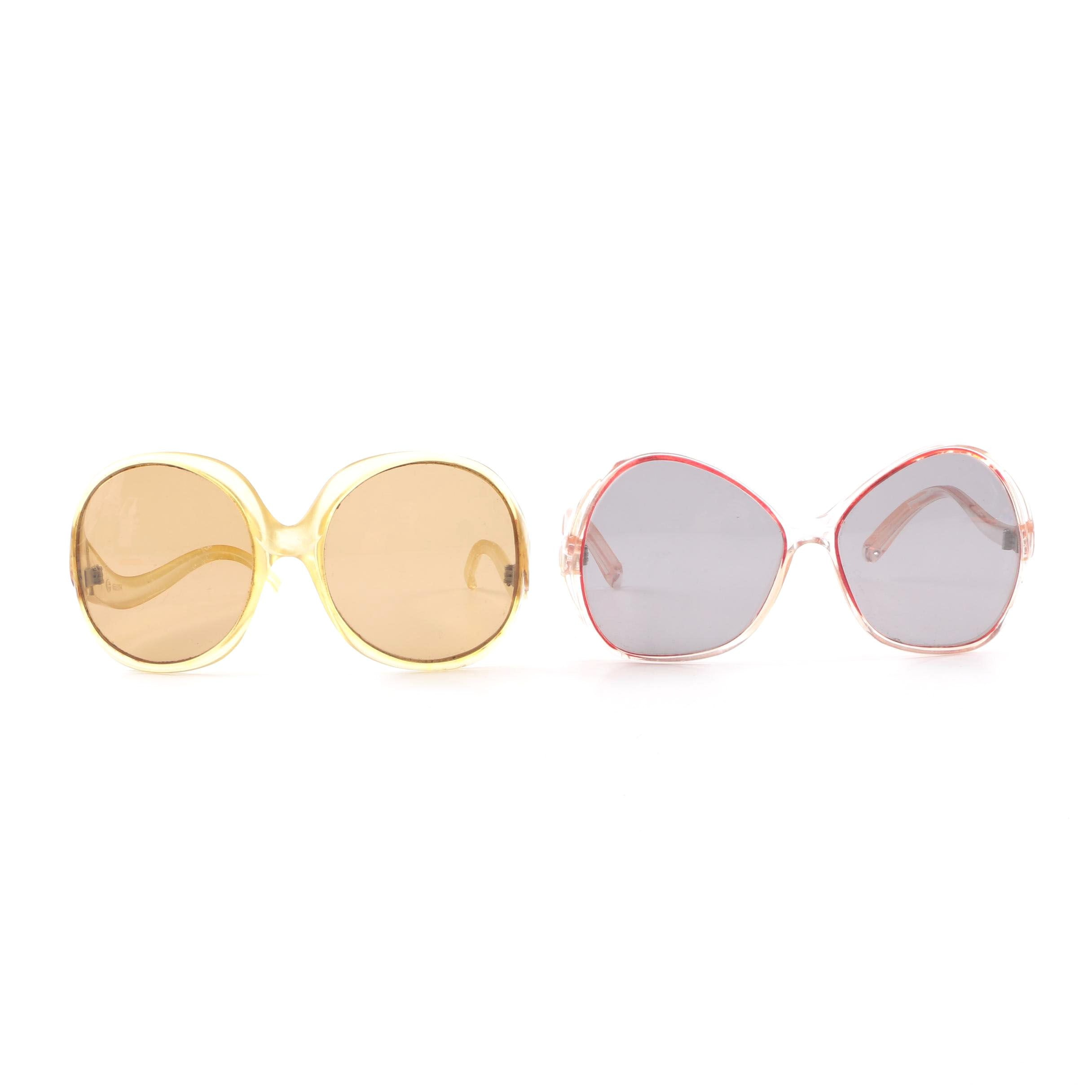Vintage Round and Butterfly Style Sunglasses