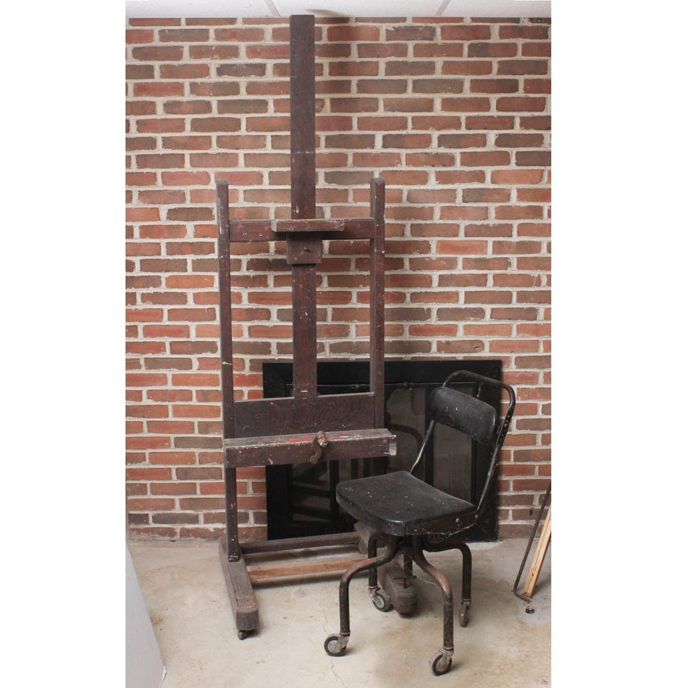 Artist's Easel and Chair