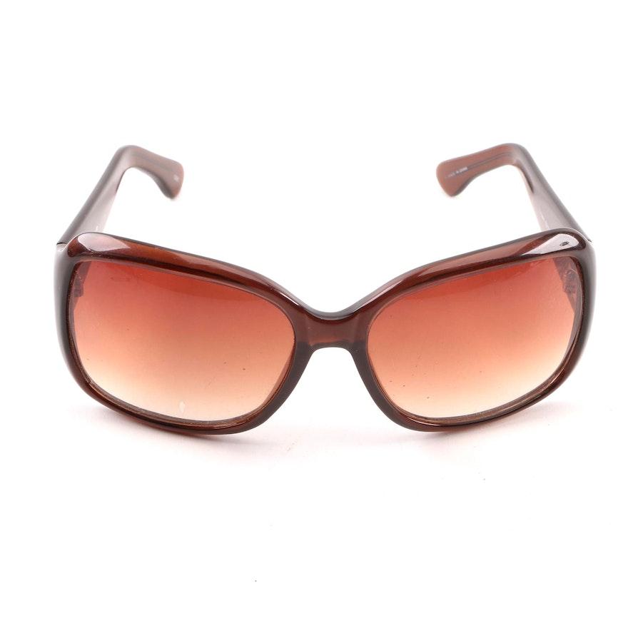 e2359cd5e0a Nicole Miller Brown Wrap Style Sunglasses   EBTH