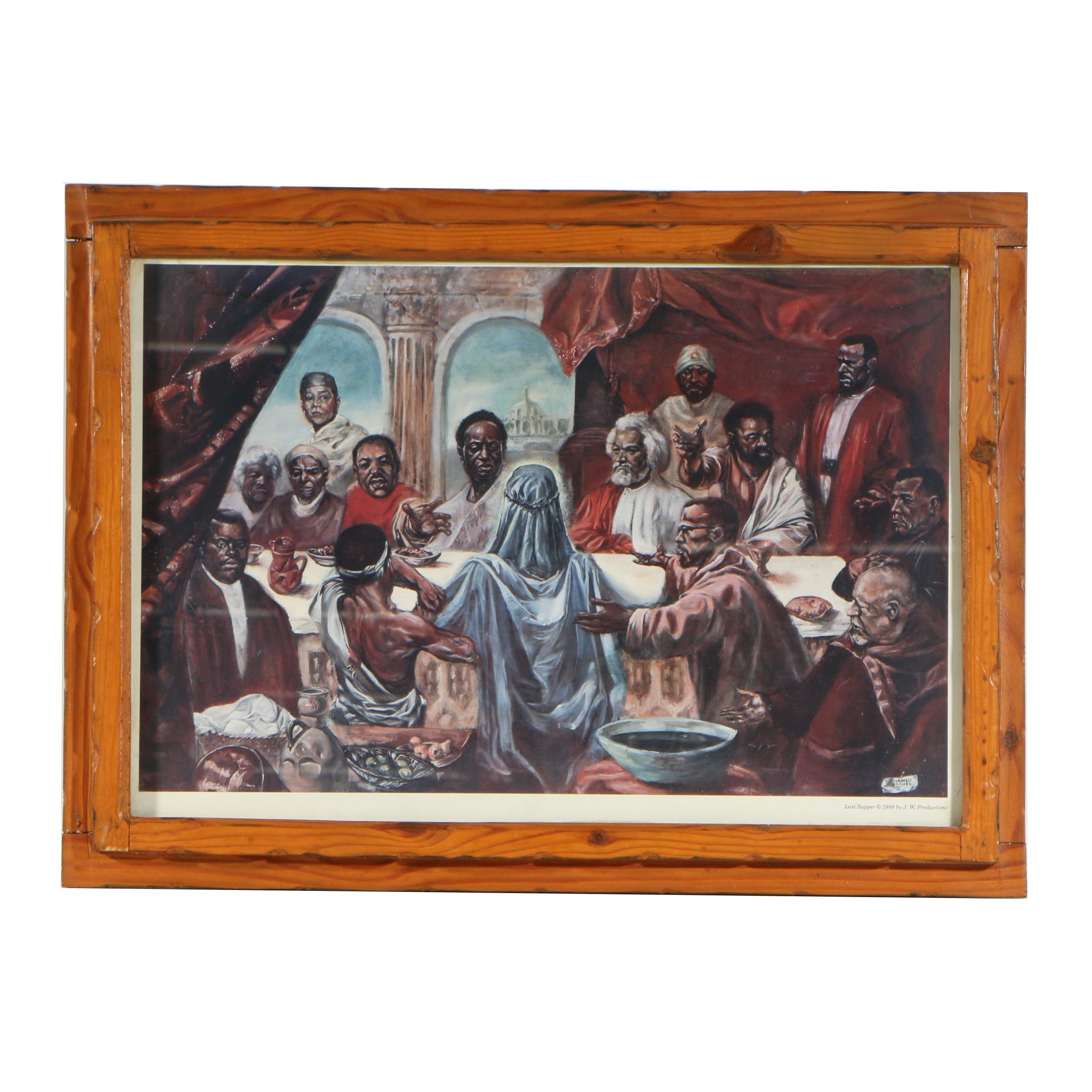 """Offset Lithograph after Cornell Barnes """"Last Supper"""""""