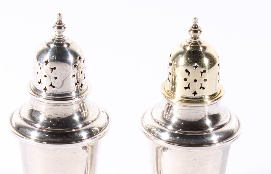 """Gorham """"Old French"""" Sterling Silver Salt and Pepper Shakers"""