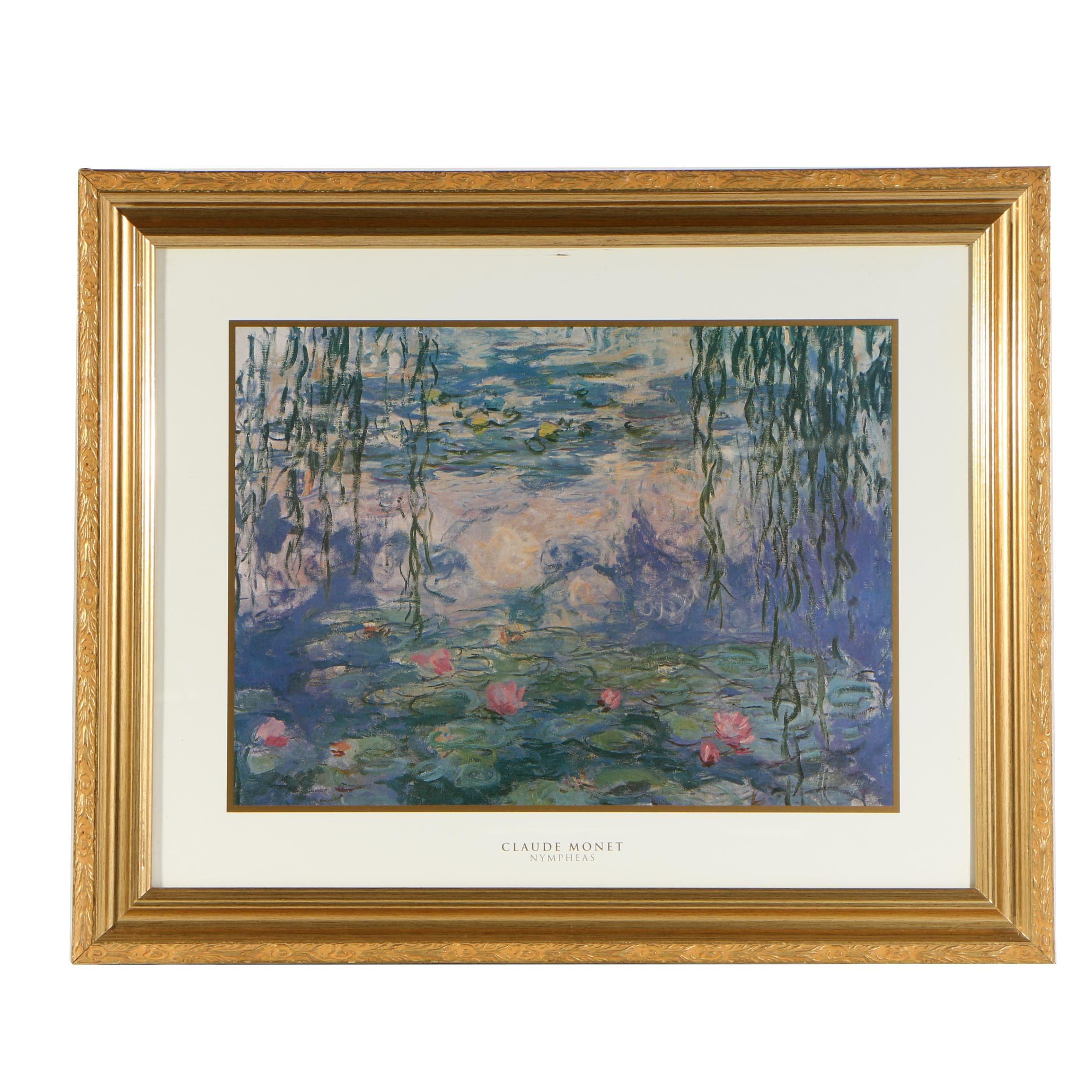 "Offset Lithograph after Claude Monet ""Nympheas"""