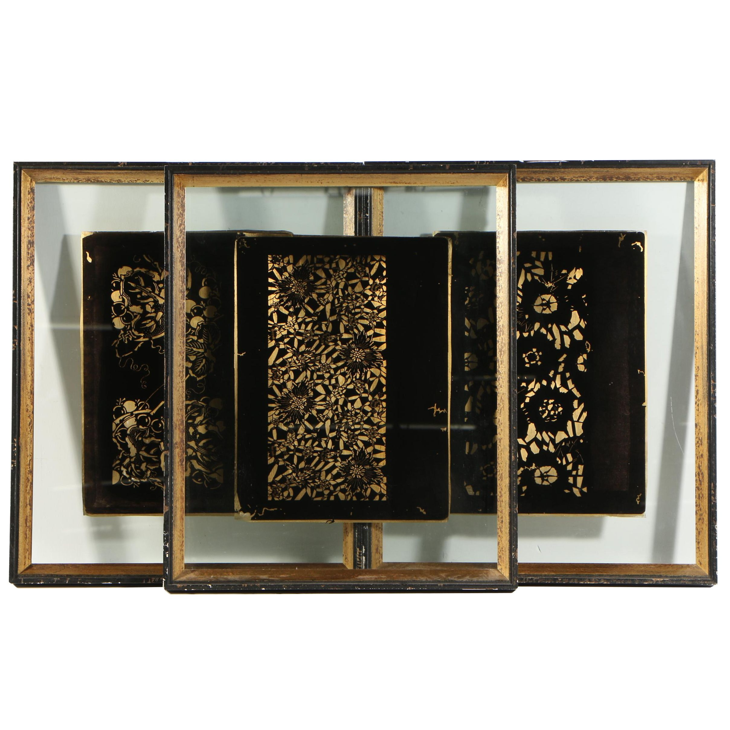 Gilded Reverse Glass Paintings