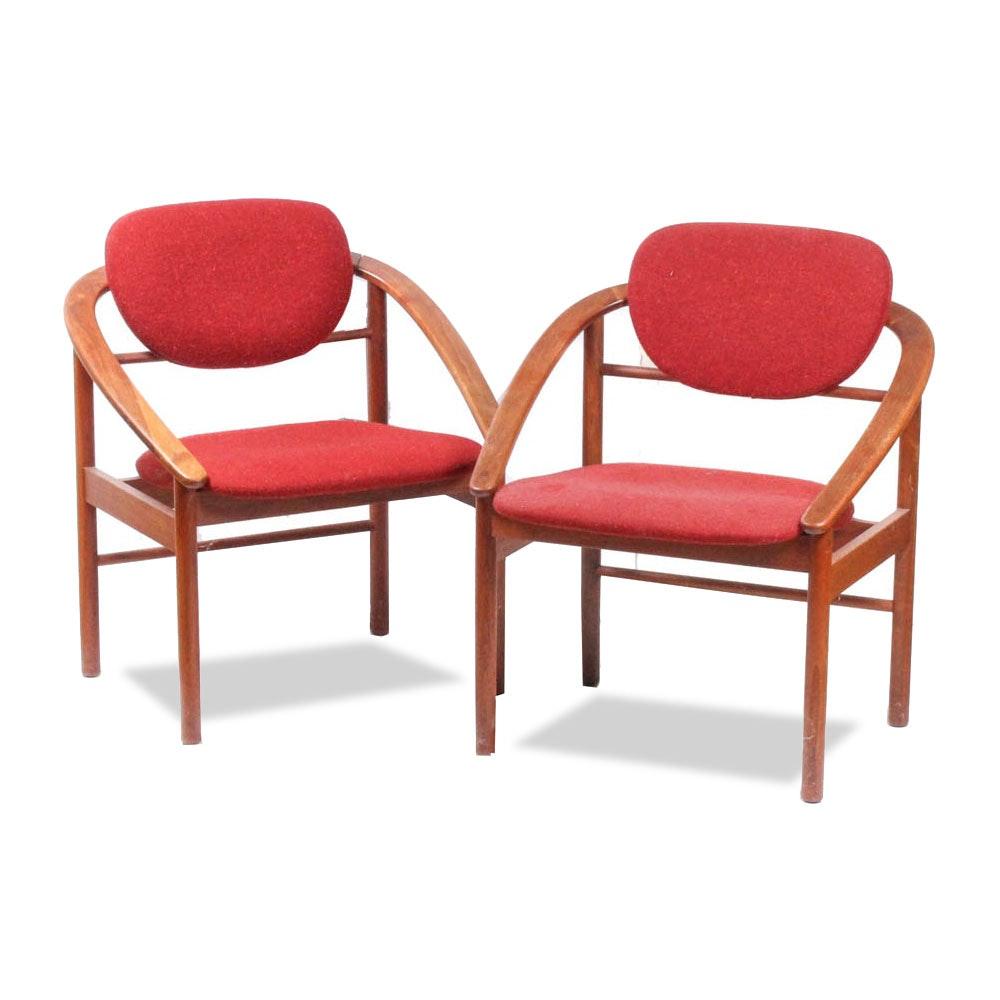 Two Danish Modern Armchairs