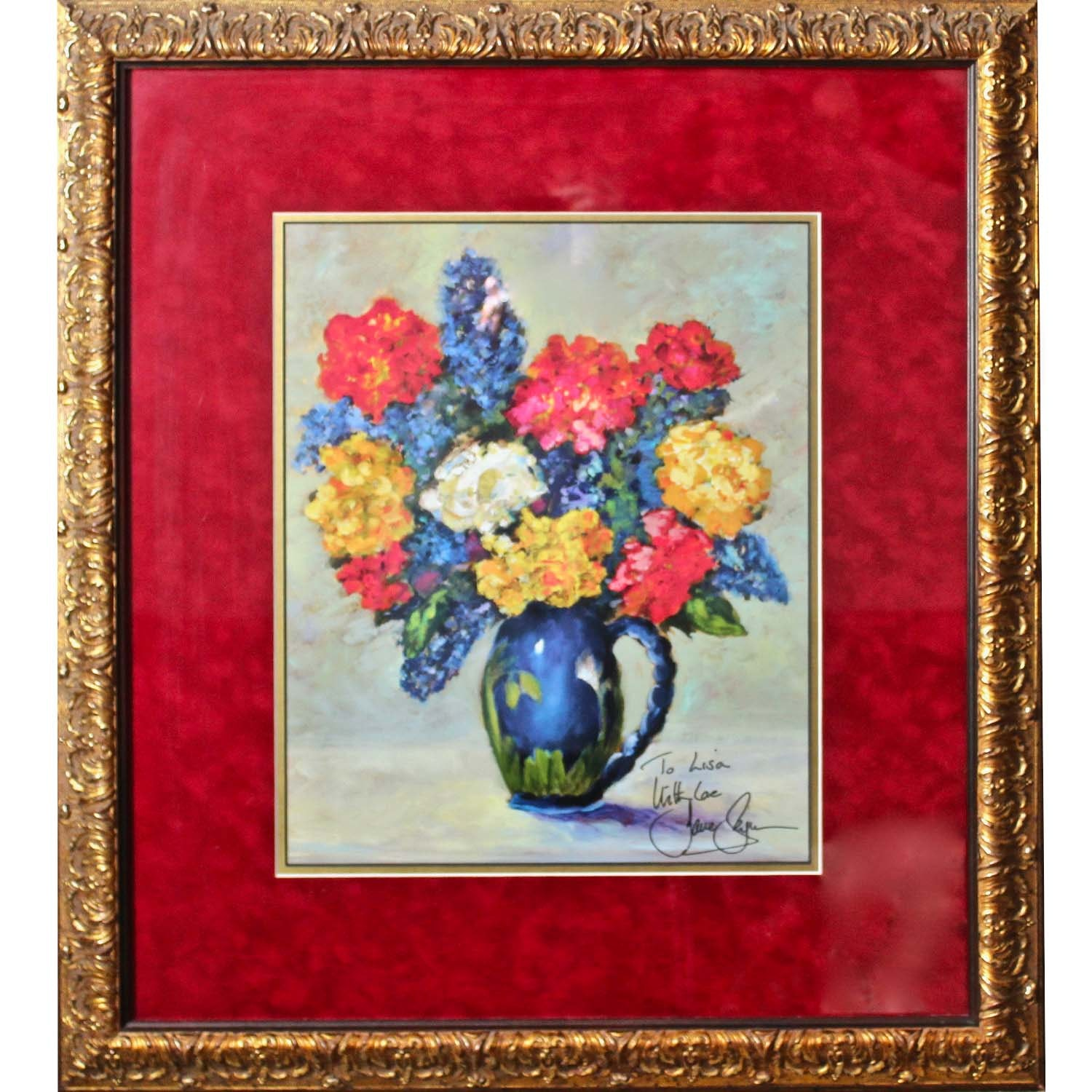 Jane Seymour Signed Offset Lithograph of Still LIfe