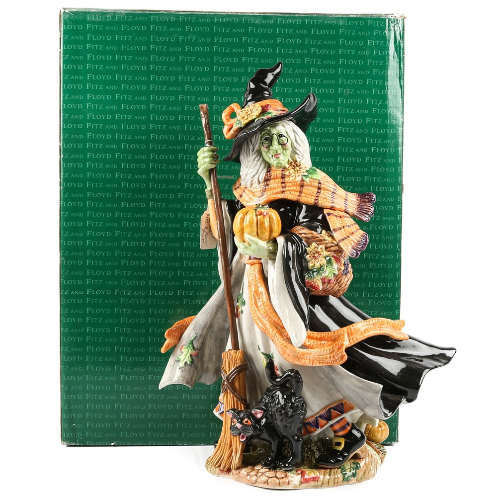 "Fitz and Floyd ""Halloween Harvest"" Witch Figurine"