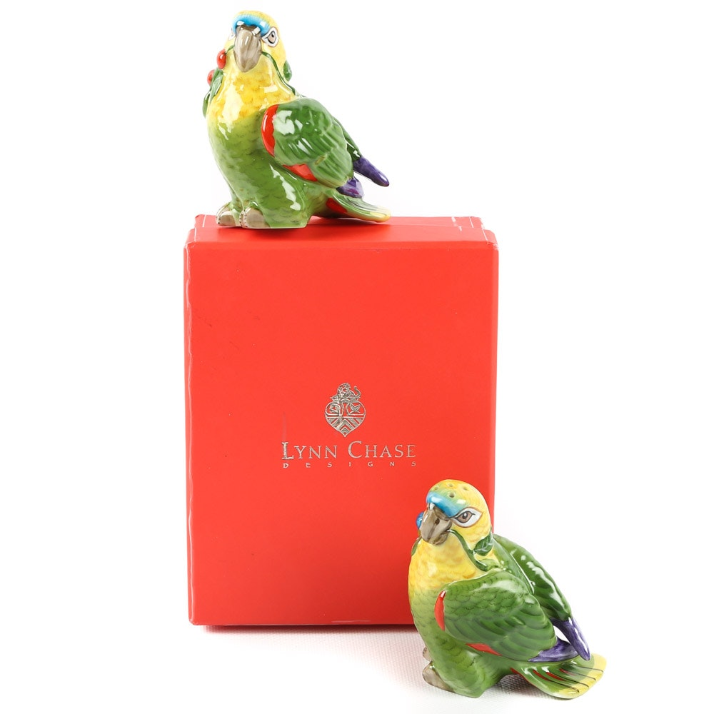 "Lynn Chase ""Parrots of Paradise"" Salt and Pepper Set"