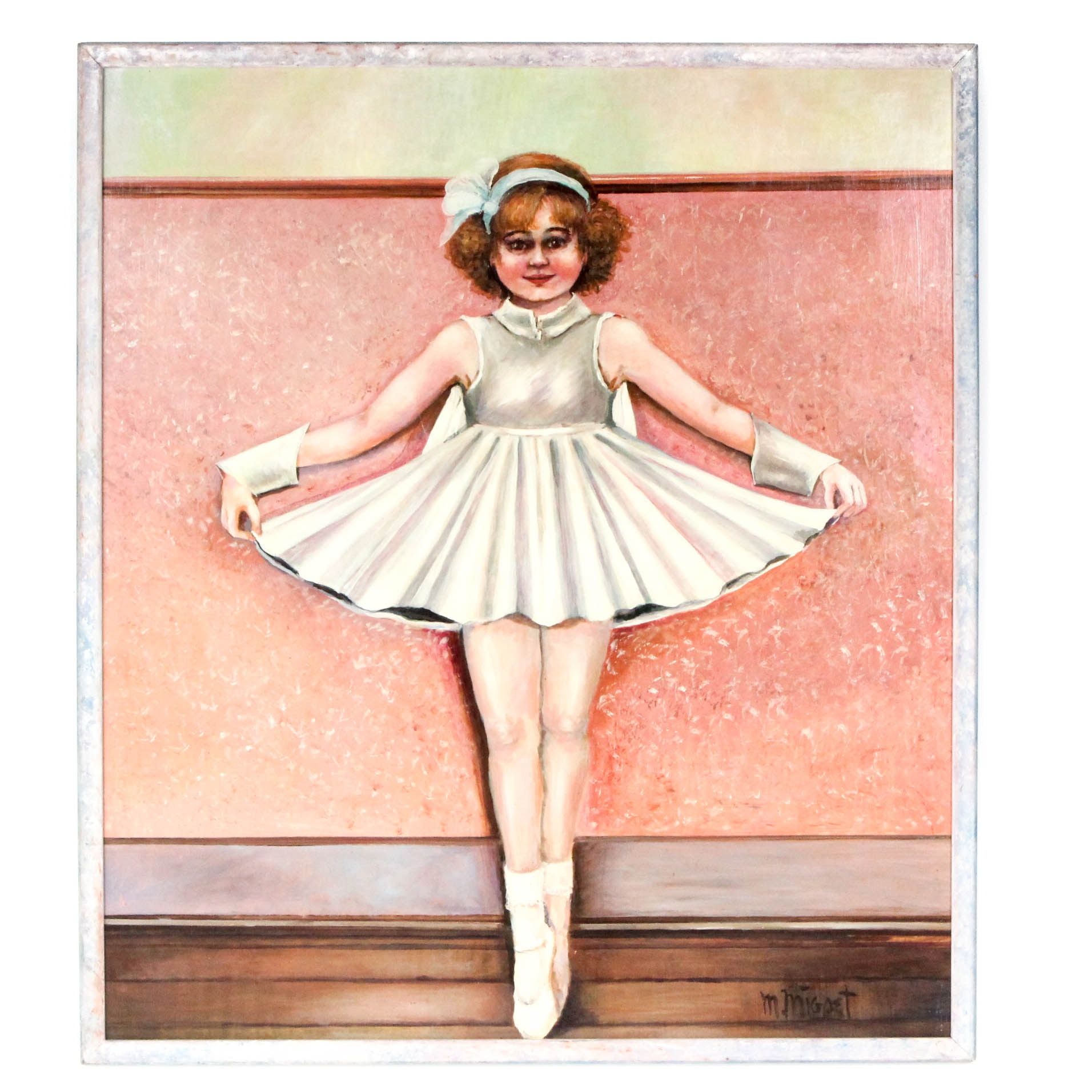 M. Migoet Oil Painting of Ballerina