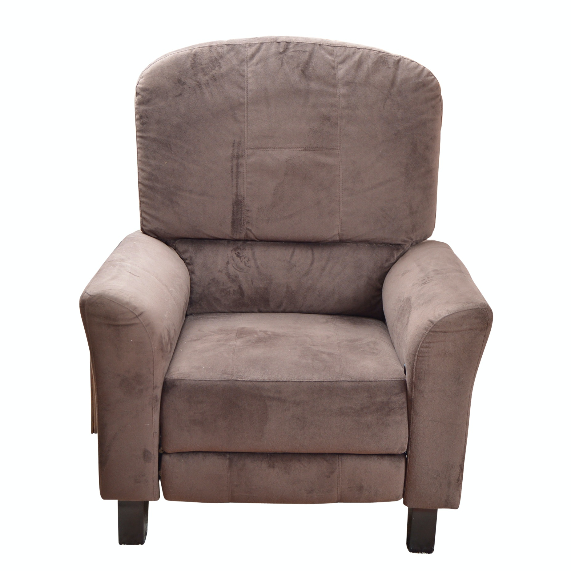 Brown Ultrasuede Recliner Chair